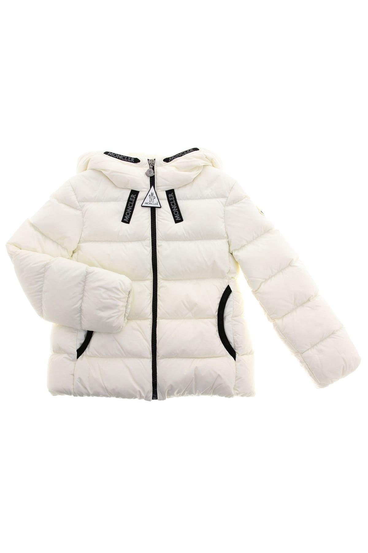 Moncler Kids' Chevril Down Jacket In Bianco