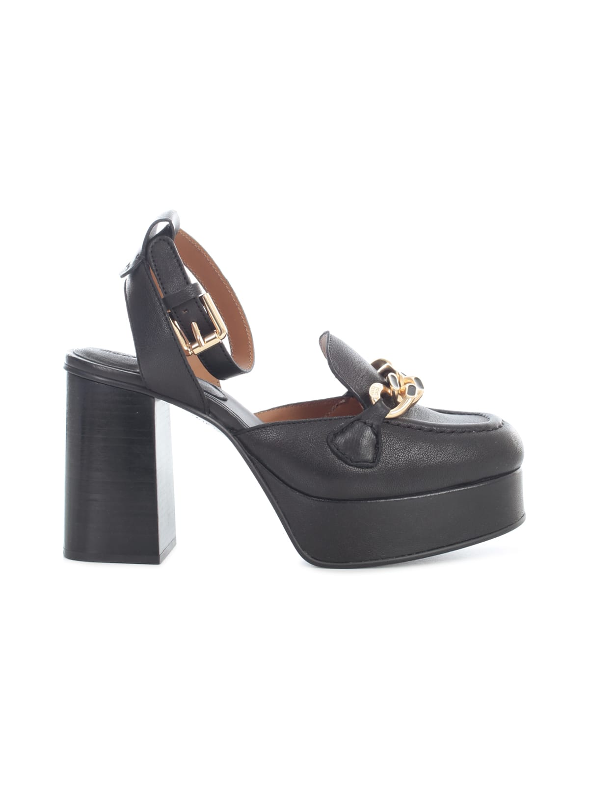 See By Chloé MAHE 105MM PUMP W/BUCKLE ON ANKLE