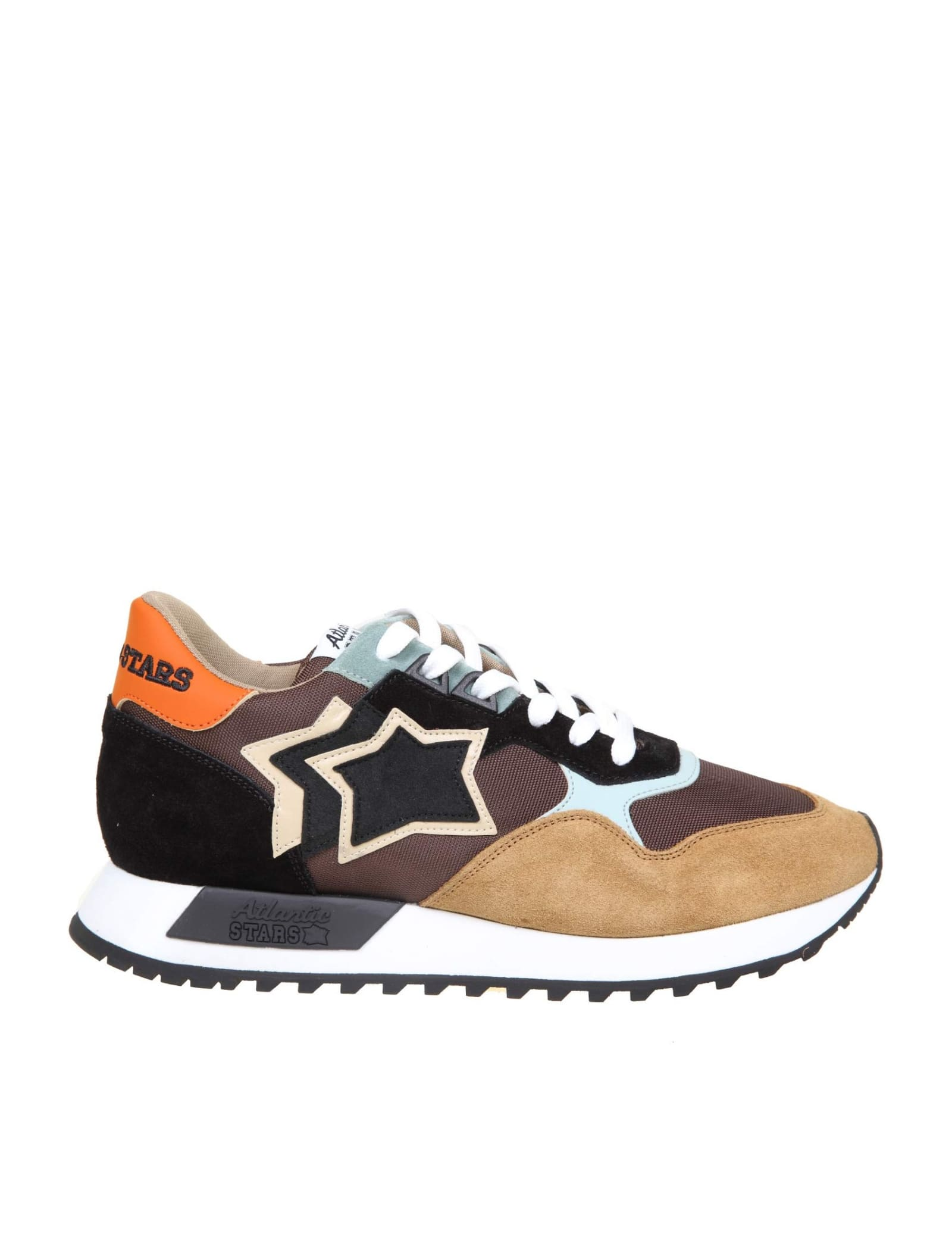Atlantic Stars DRACO SNEAKERS IN COLOR NYLON AND SUEDE