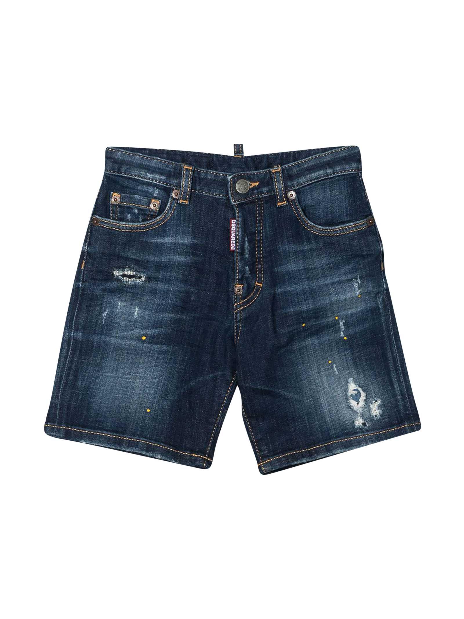 Dsquared2 Shorts BLUE DENIM SHORTS