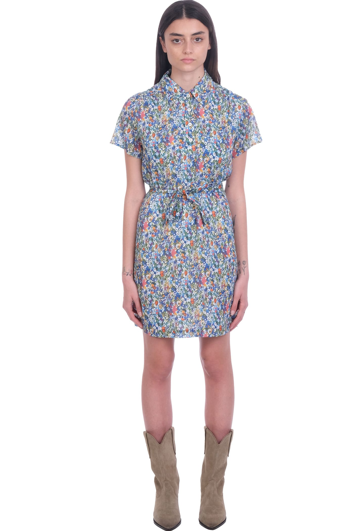Buy A.P.C. Prudence Dress In Multicolor Cotton online, shop A.P.C. with free shipping