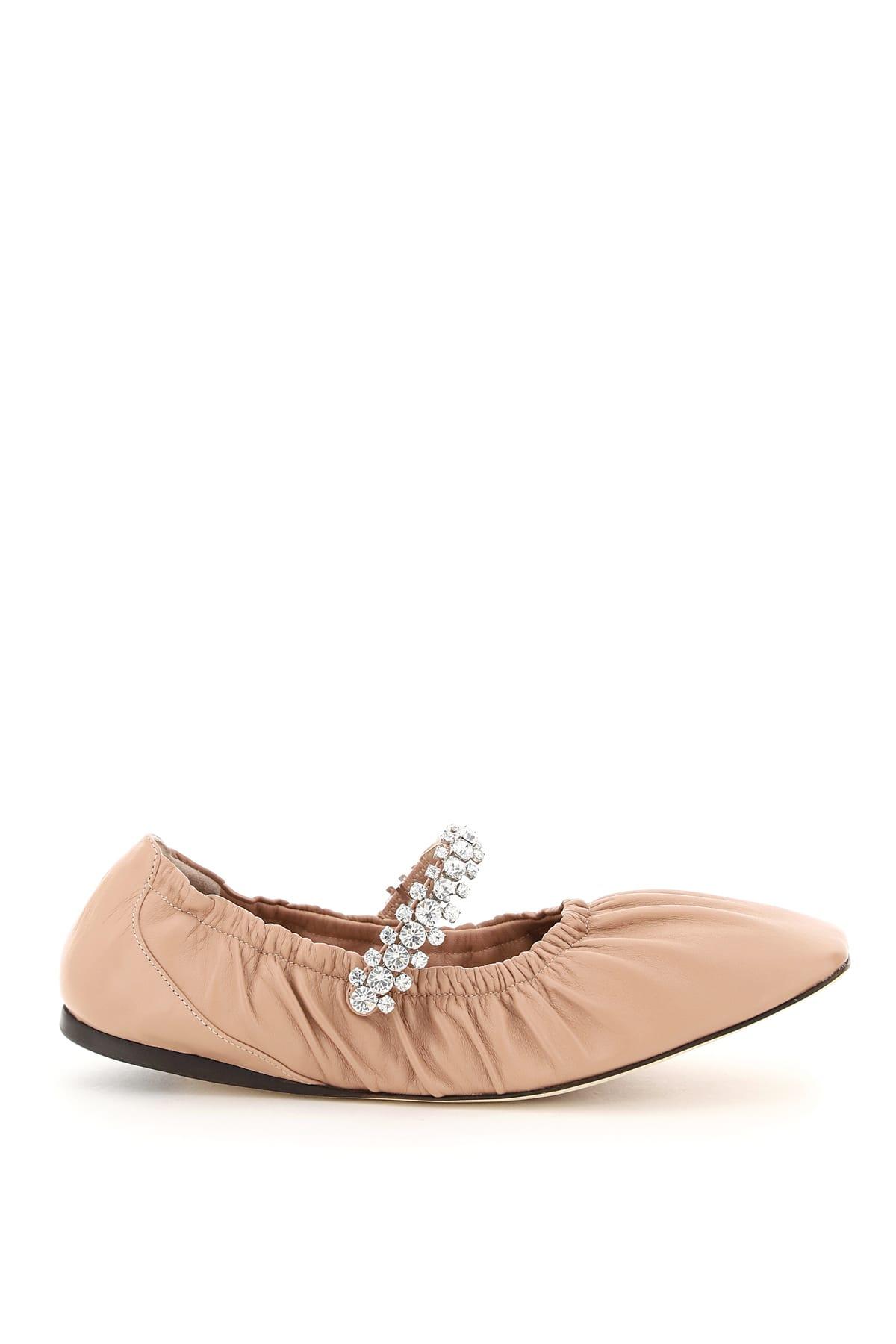 Buy Jimmy Choo Gai Flat Ballerinas Crystal Bracelet online, shop Jimmy Choo shoes with free shipping