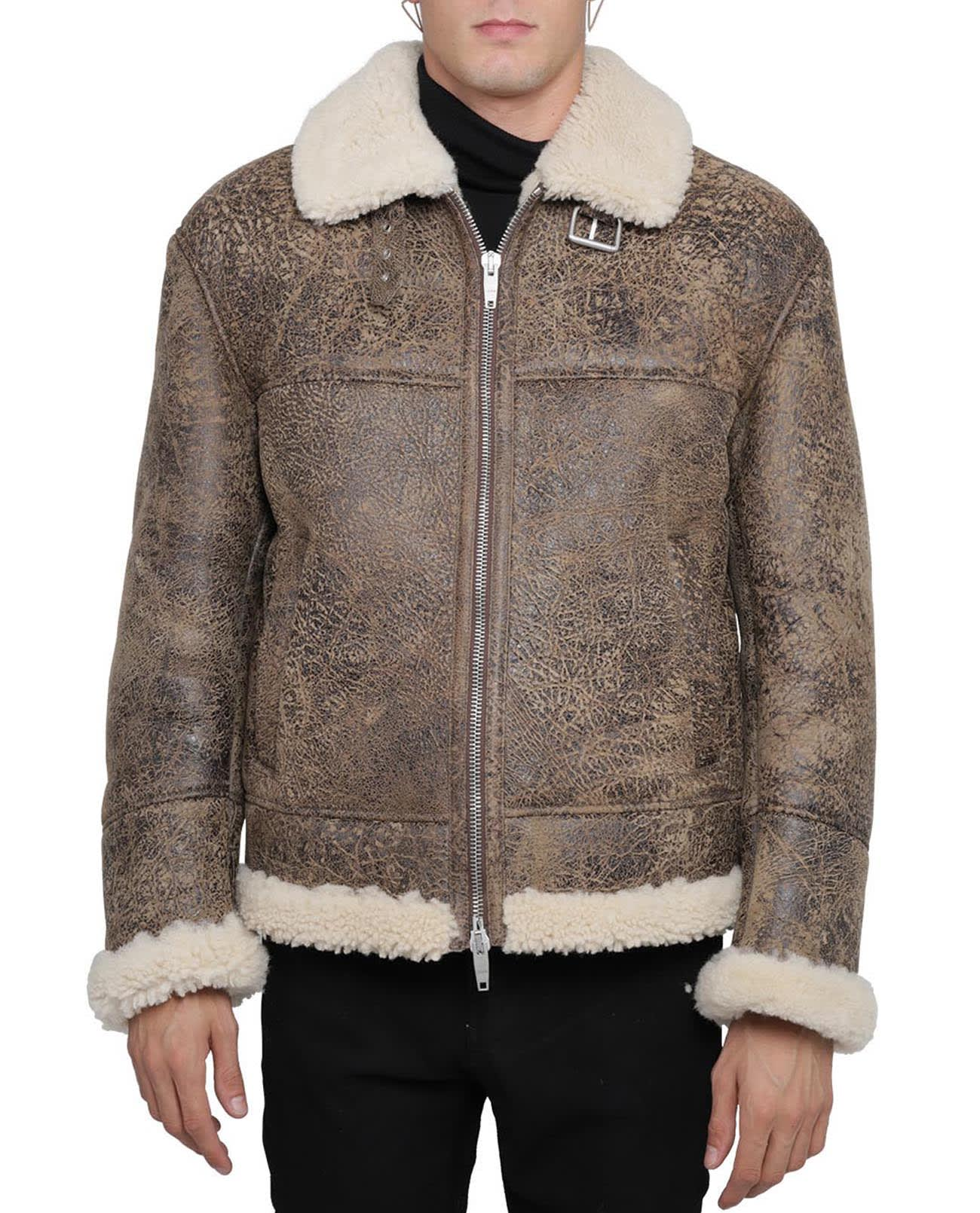 Brown Shearling Jacket Men