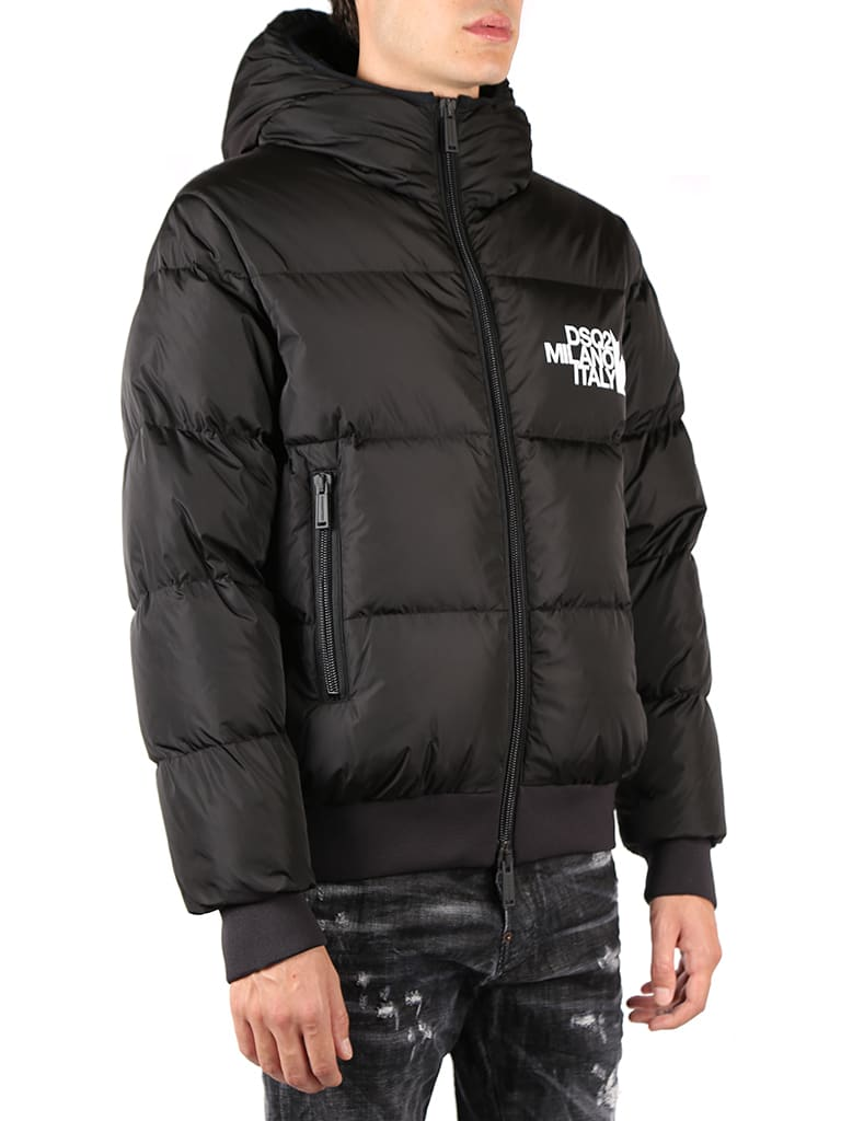 Cheap And Nice Dsquared2 Hooded Down Jacket Embroidered Logo - Top Quality