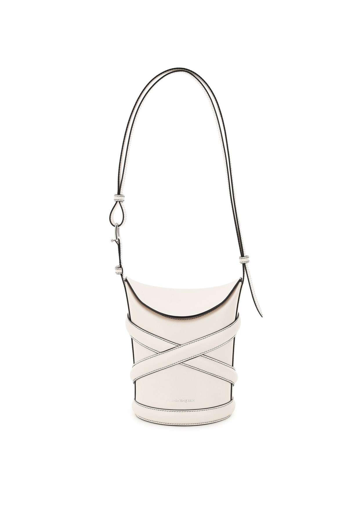 Alexander Mcqueen Leathers THE SMALL CURVE BUCKET BAG