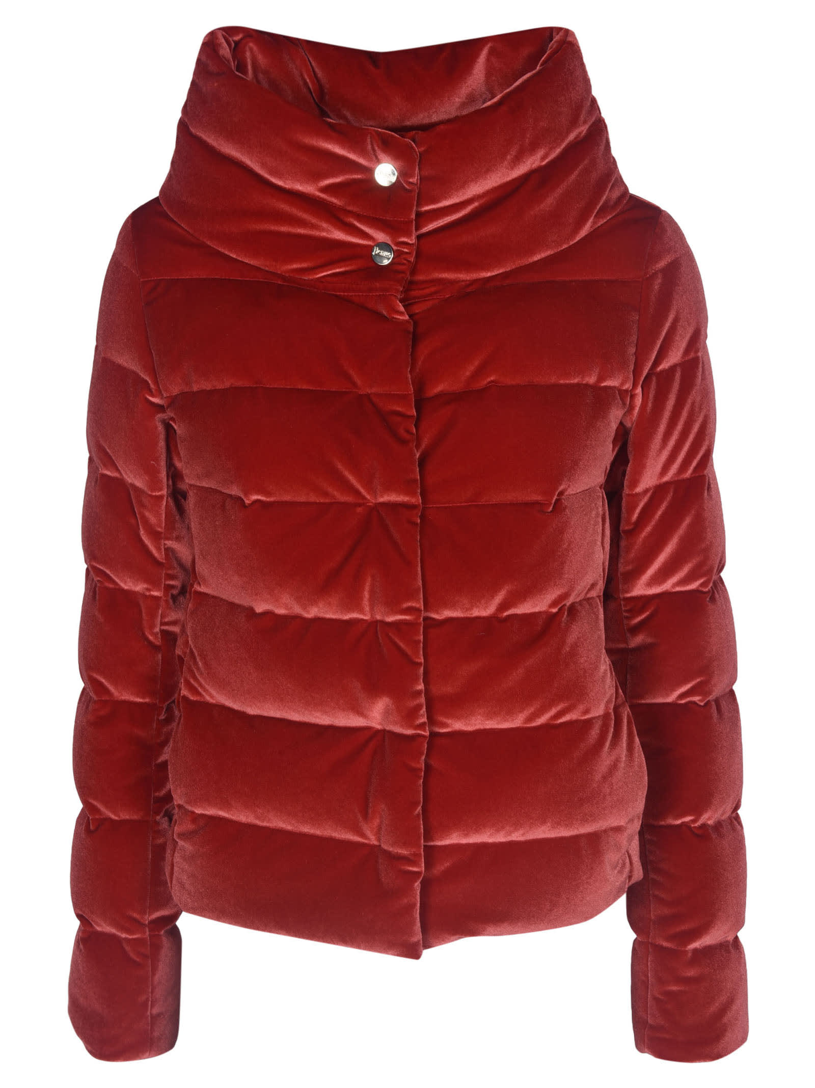 Herno Wide Neck Buttoned Padded Jacket