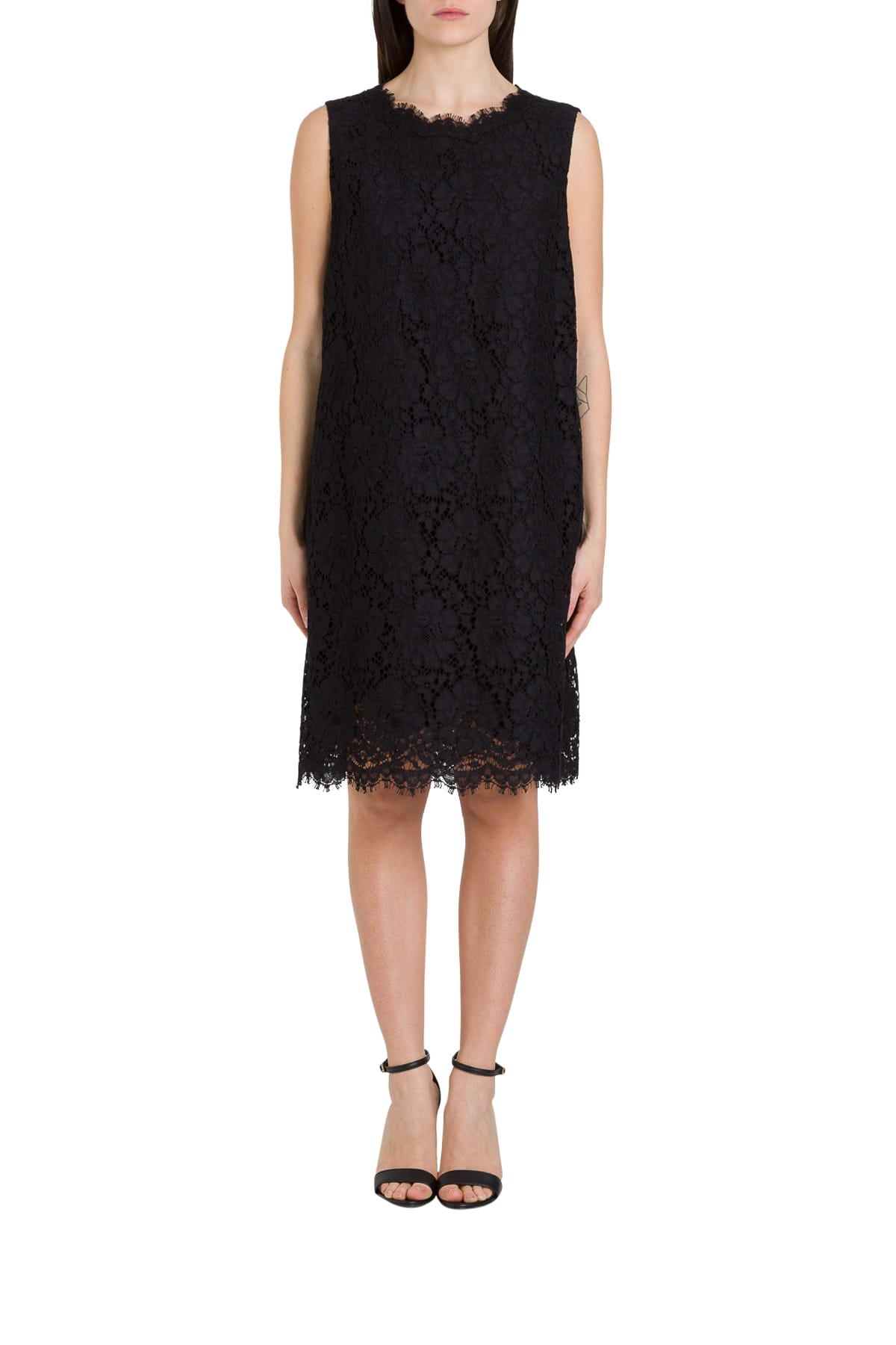 Buy Dolce & Gabbana Lace A-line Dress online, shop Dolce & Gabbana with free shipping