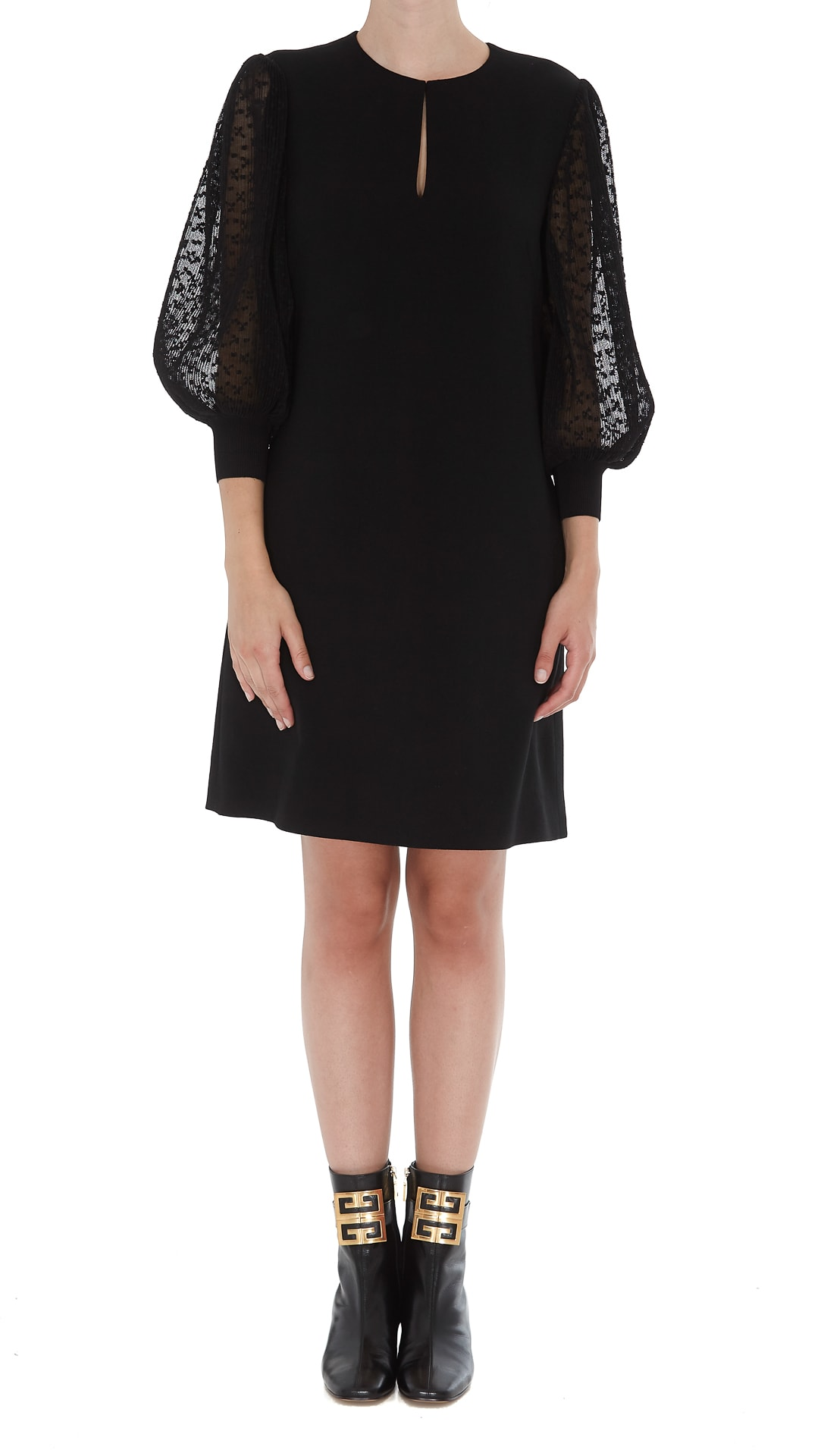Givenchy Dress With Lace Sleeves