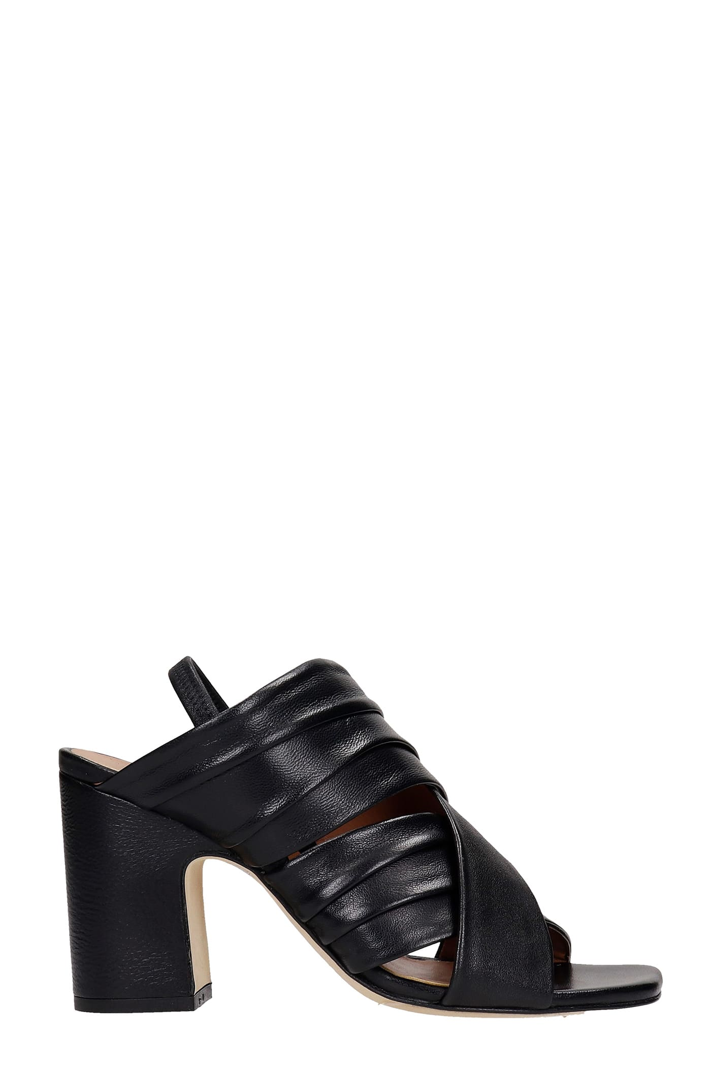 Sandals In Black Leather