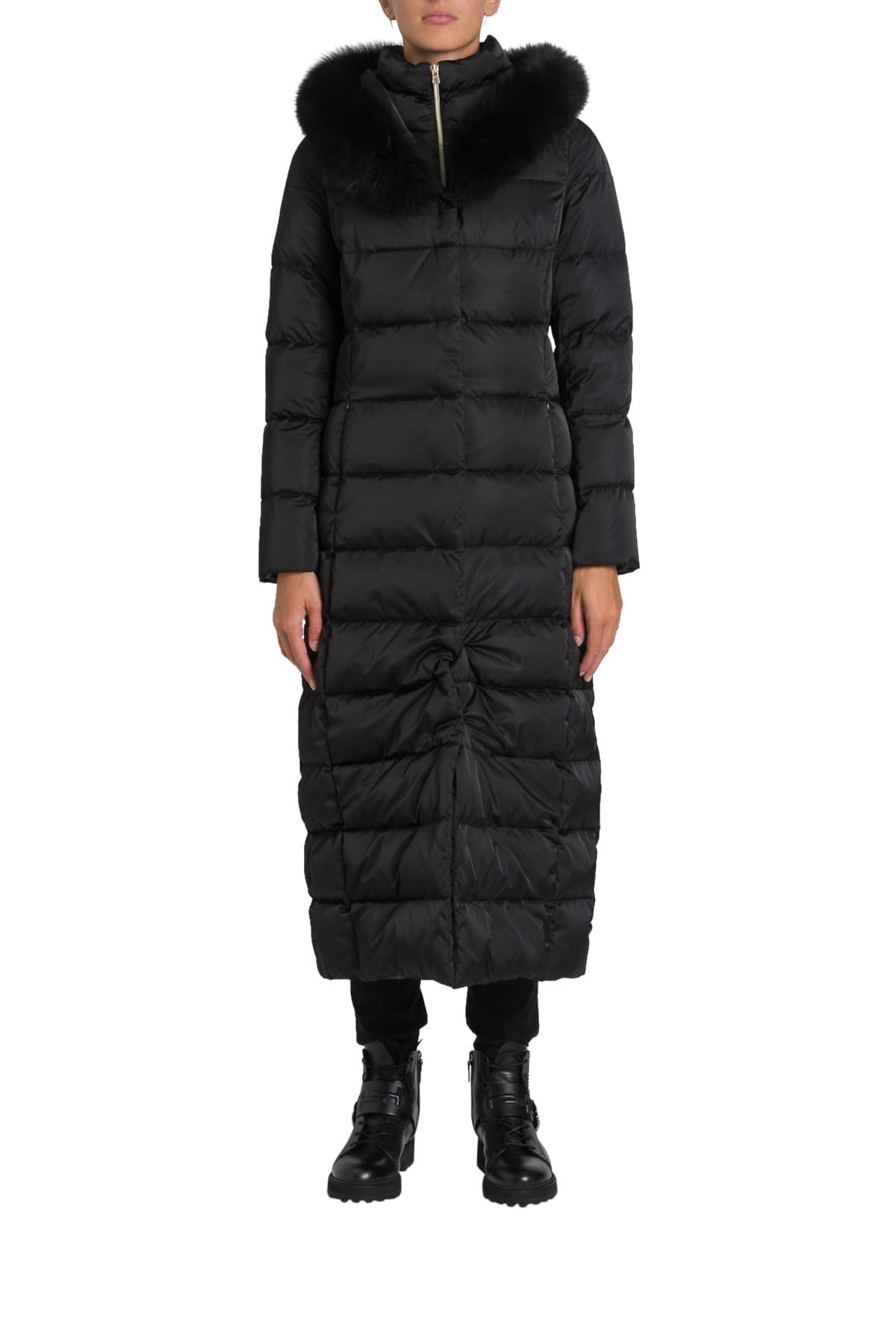 Herno Forx Trimming Hodded Long Padded Coat