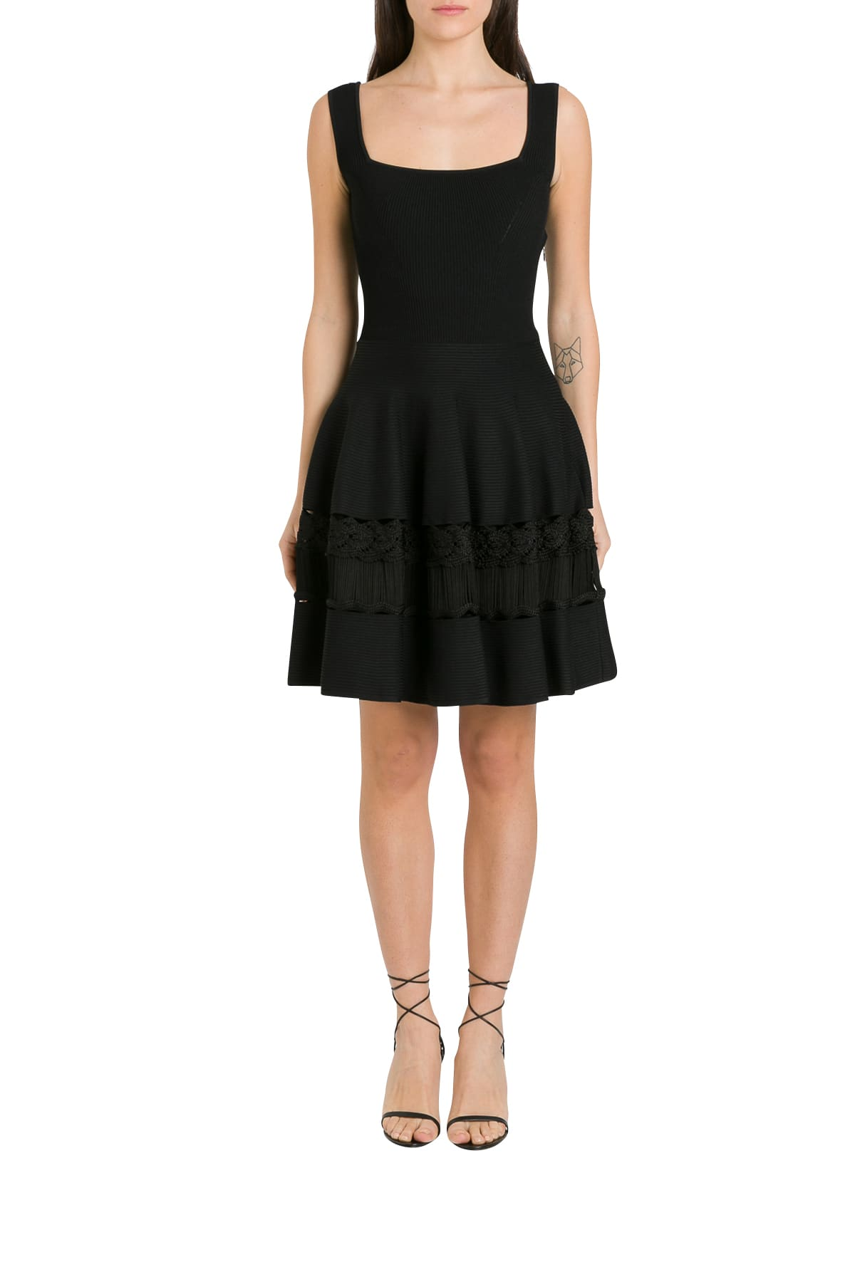 Buy Alexander McQueen Stretch Knit Dress online, shop Alexander McQueen with free shipping