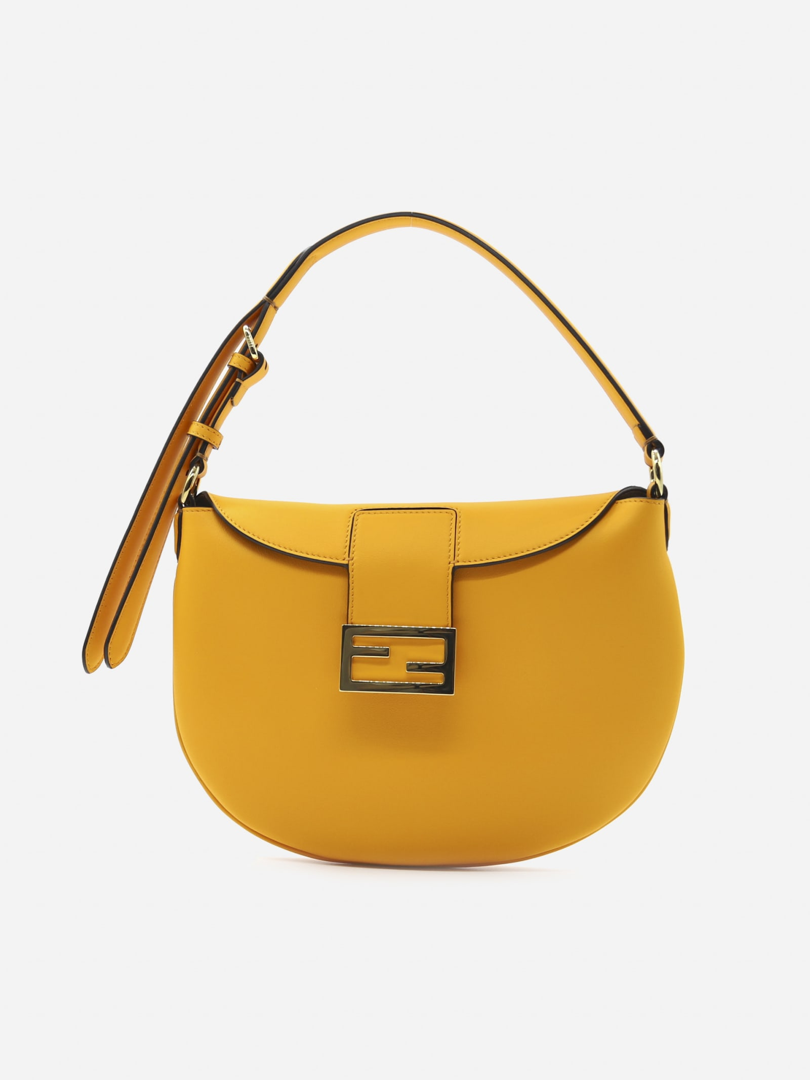 Fendi Croissant Bag In Leather With Ff Motif Buckle