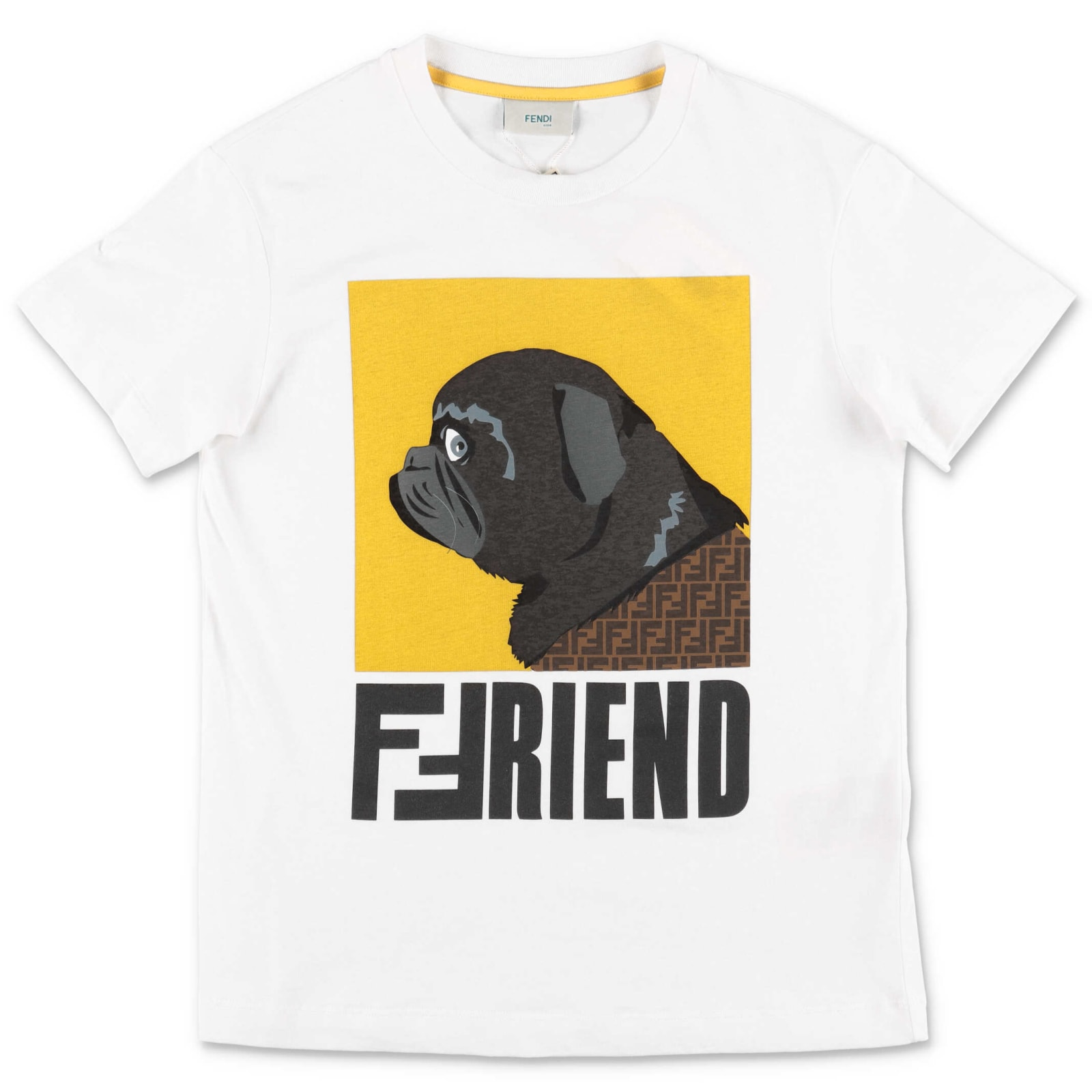 Fendi Kids' T-shirt In Bianco