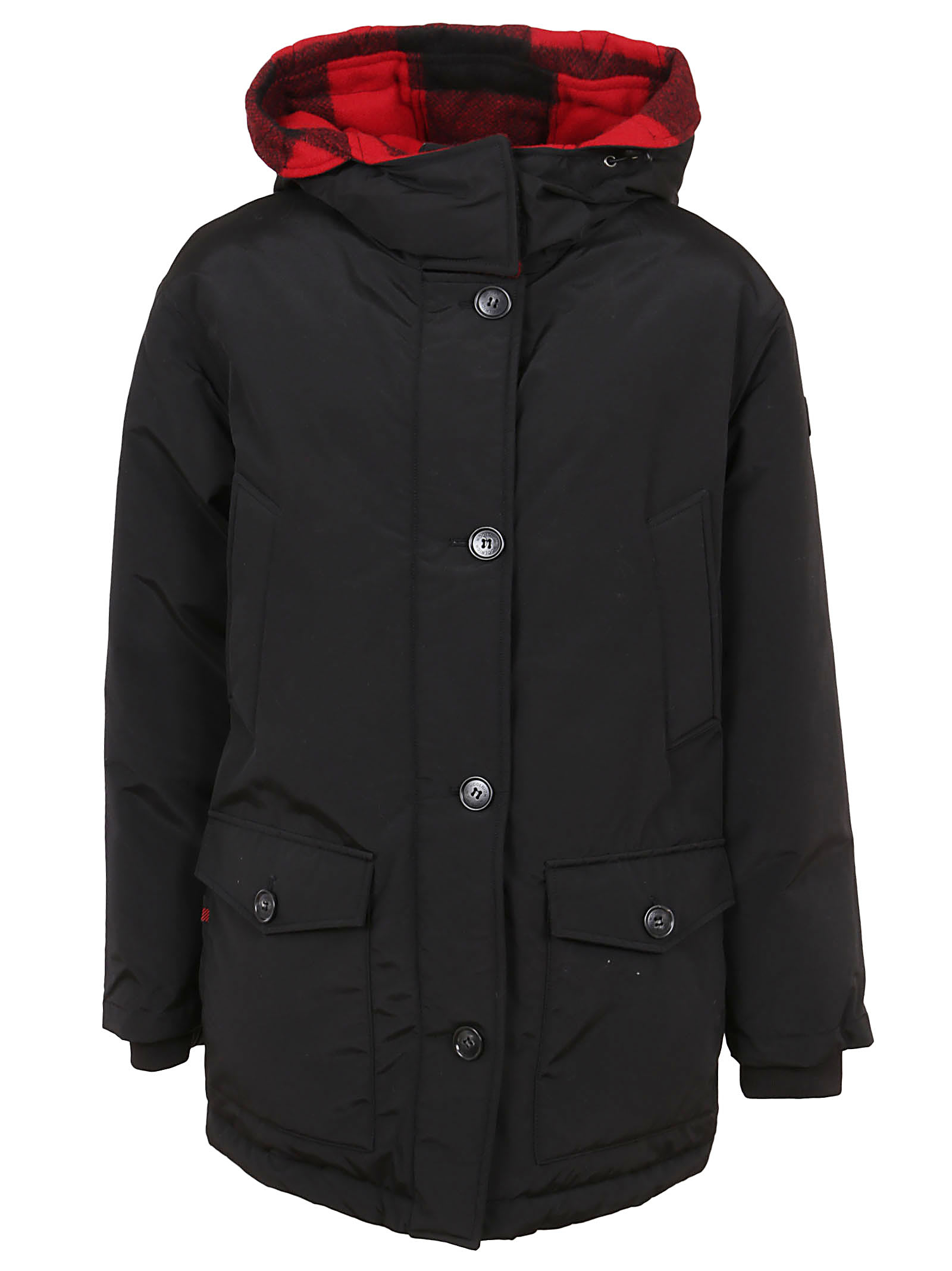 Black Cotton Padded Coat