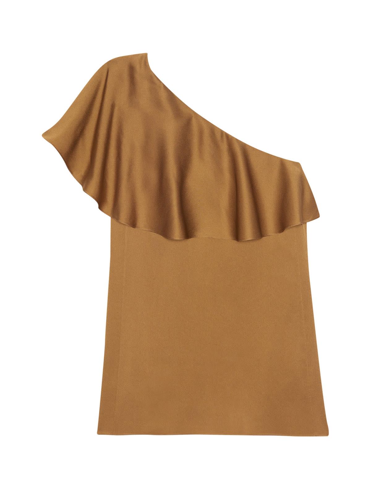 Buy Saint Laurent Dress With Flounce online, shop Saint Laurent with free shipping