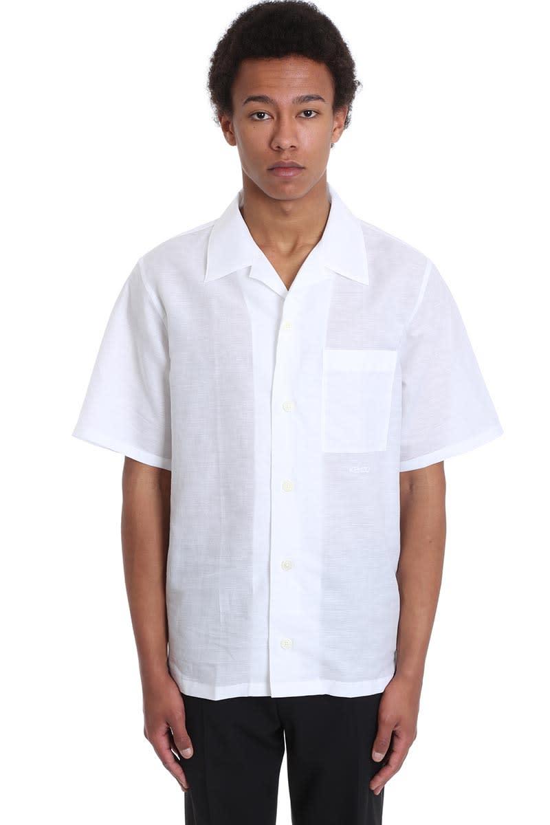Kenzo Shirt In White Cotton