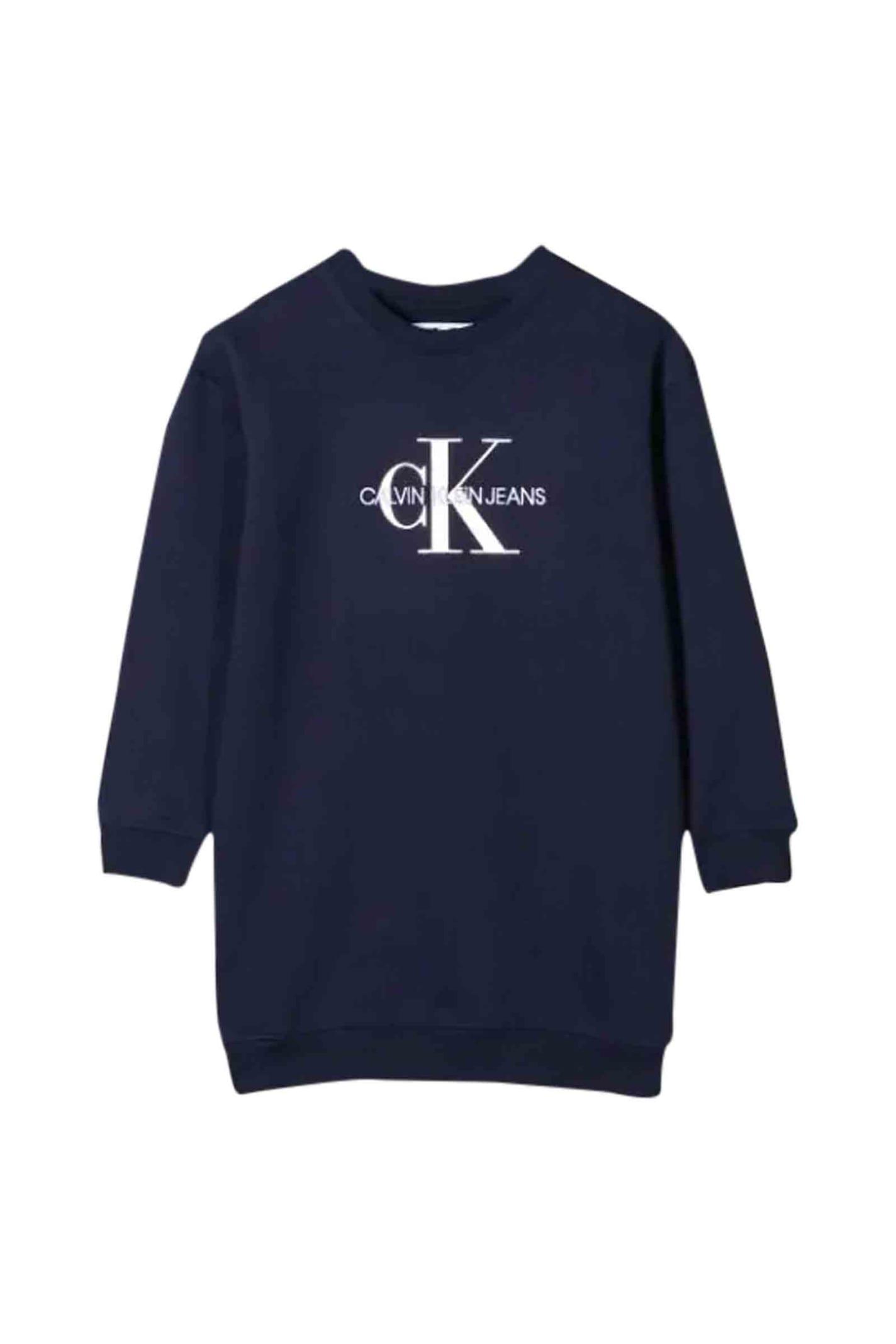 Buy Calvin Klein Sweatshirt Style Dress online, shop Calvin Klein with free shipping