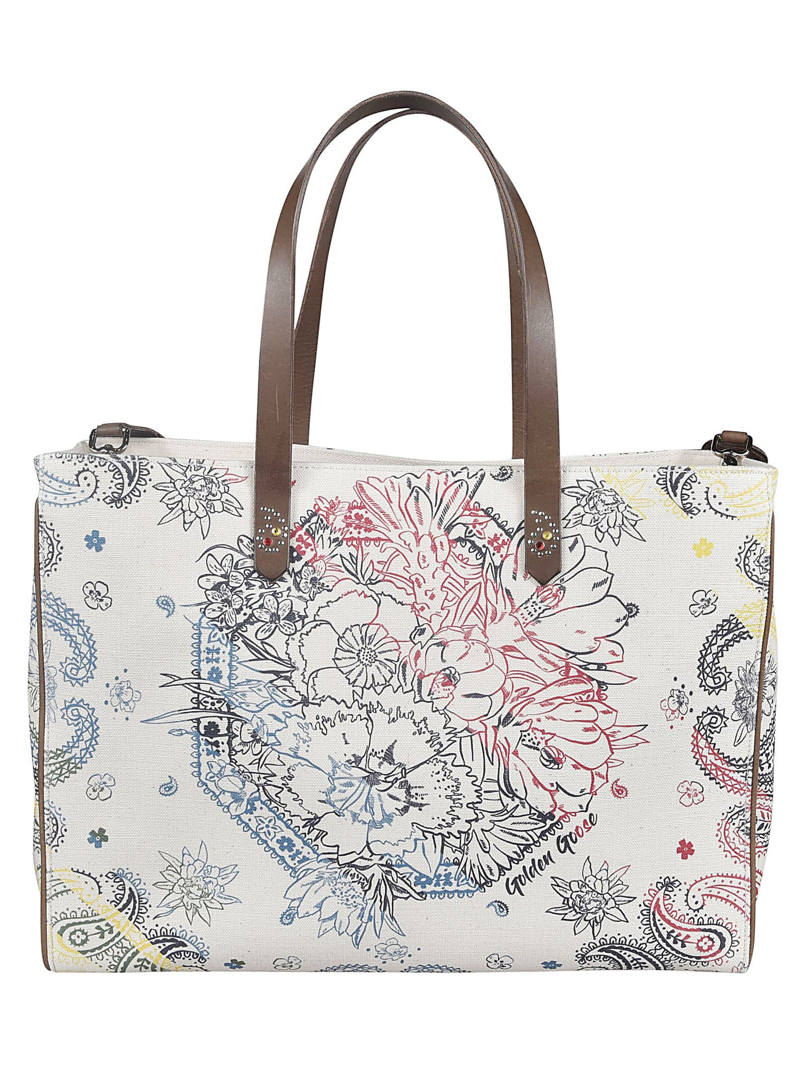 Golden Goose Floral Printed Shopper Bag