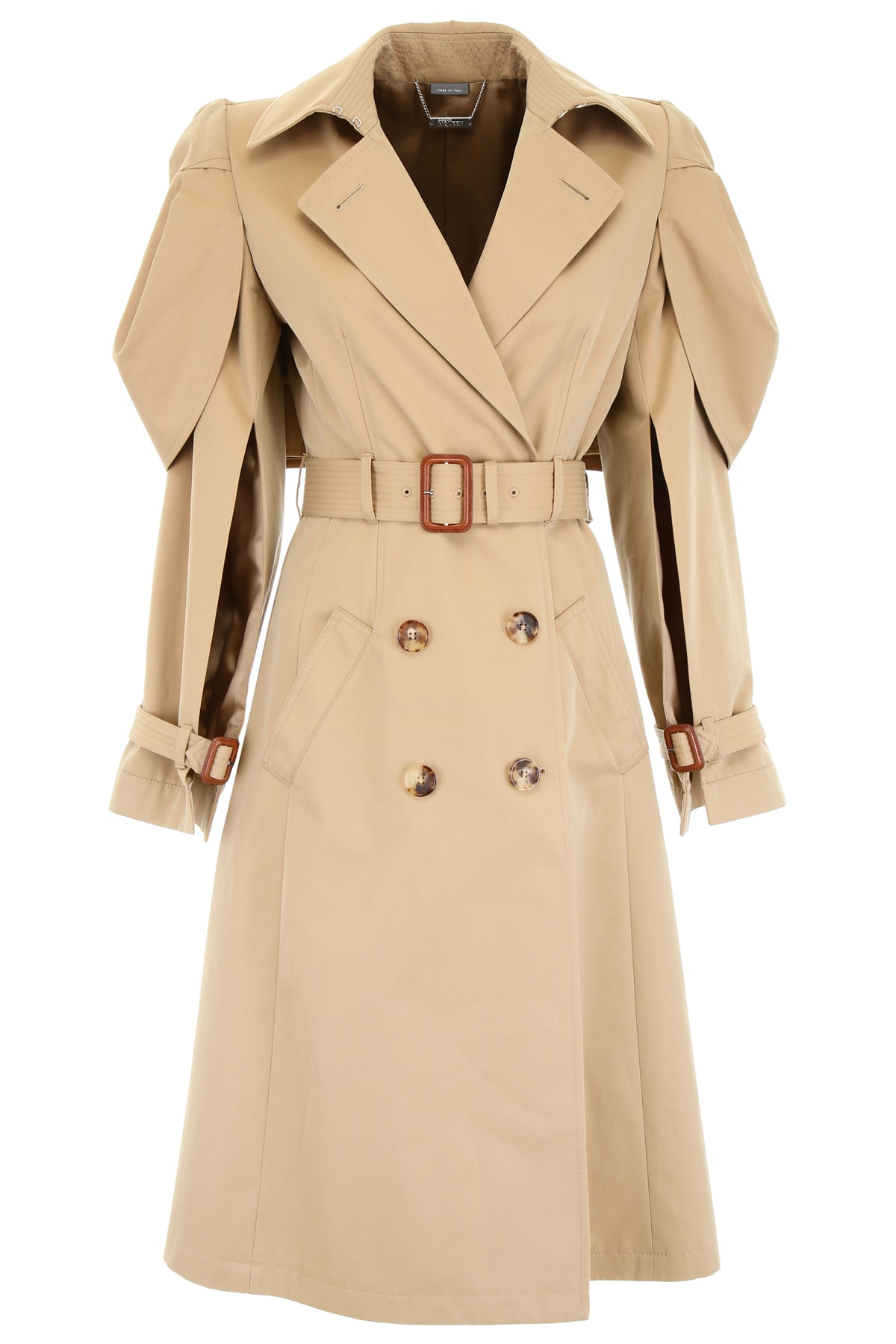 Alexander McQueen Raincoat With Shell Cape