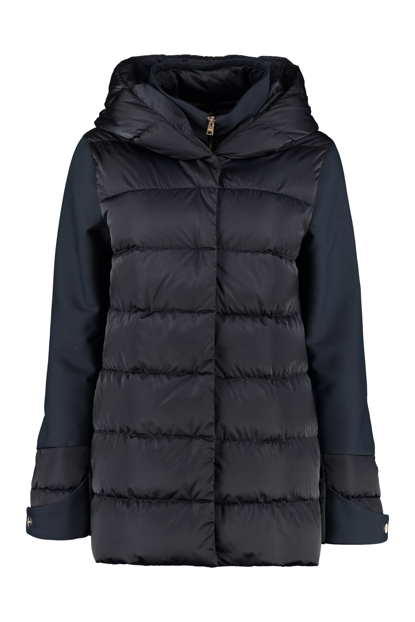 Herno Padded Jacket With Zip And Snaps