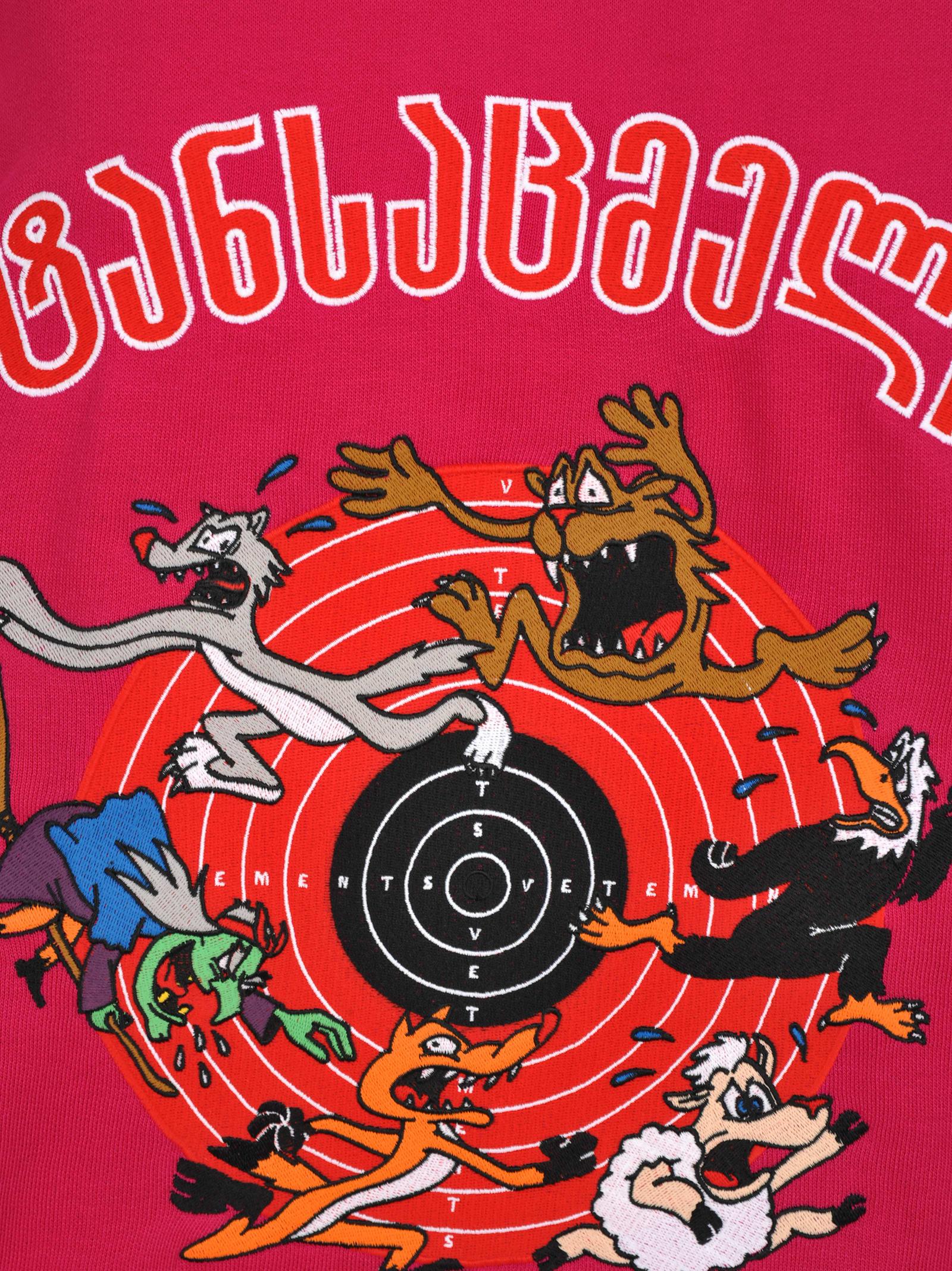 Vetements Tops Vetements Vetements Oversized Cartoon Print Hoodie