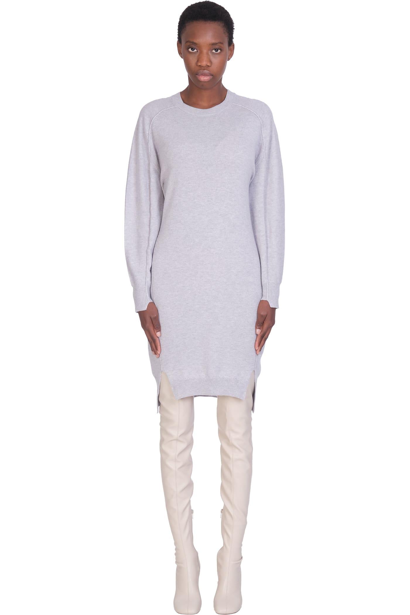 Buy Stella McCartney Dress In Grey Wool online, shop Stella McCartney with free shipping
