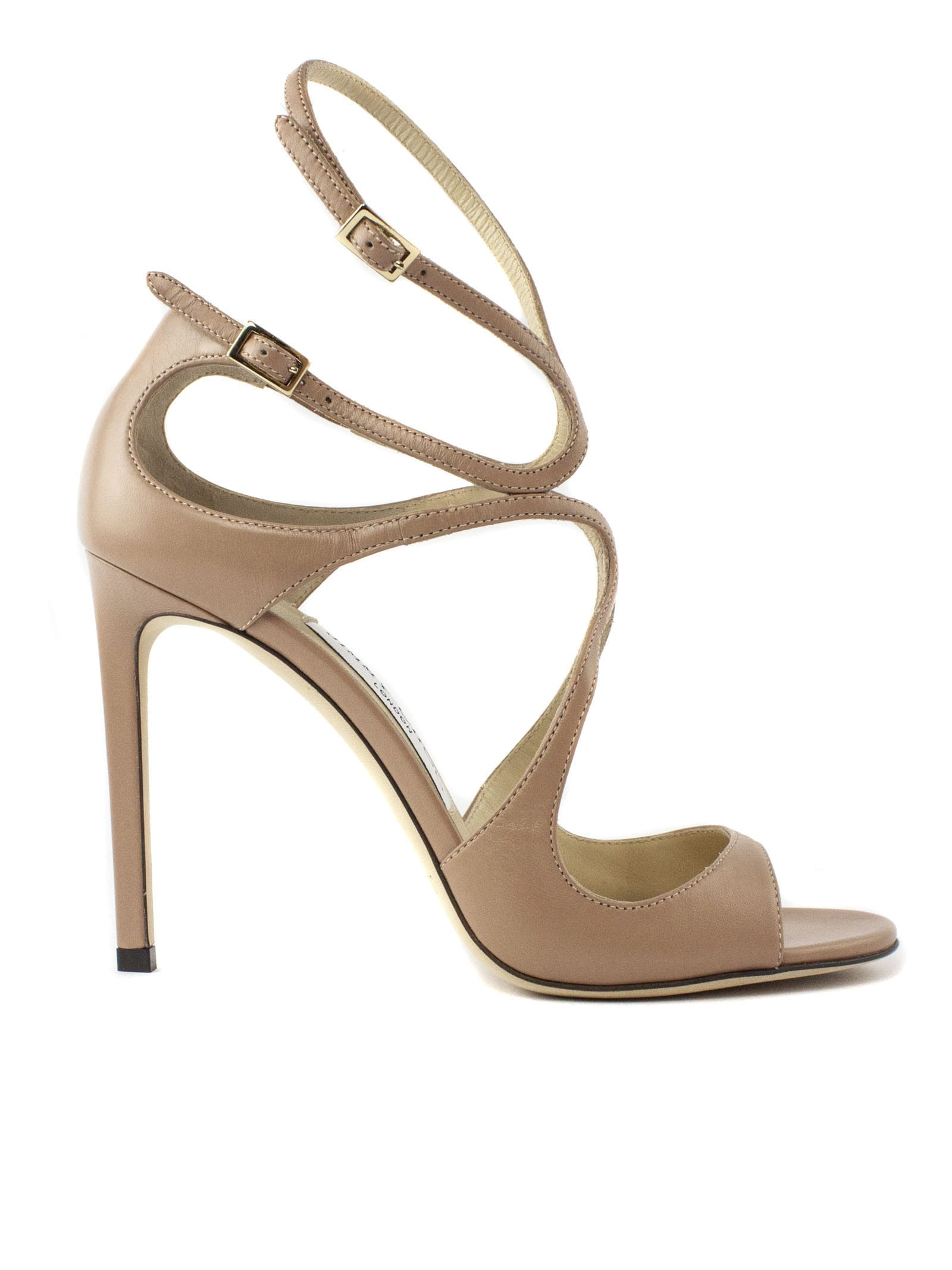 Buy Jimmy Choo Ballet-pink Leather Sandal online, shop Jimmy Choo shoes with free shipping