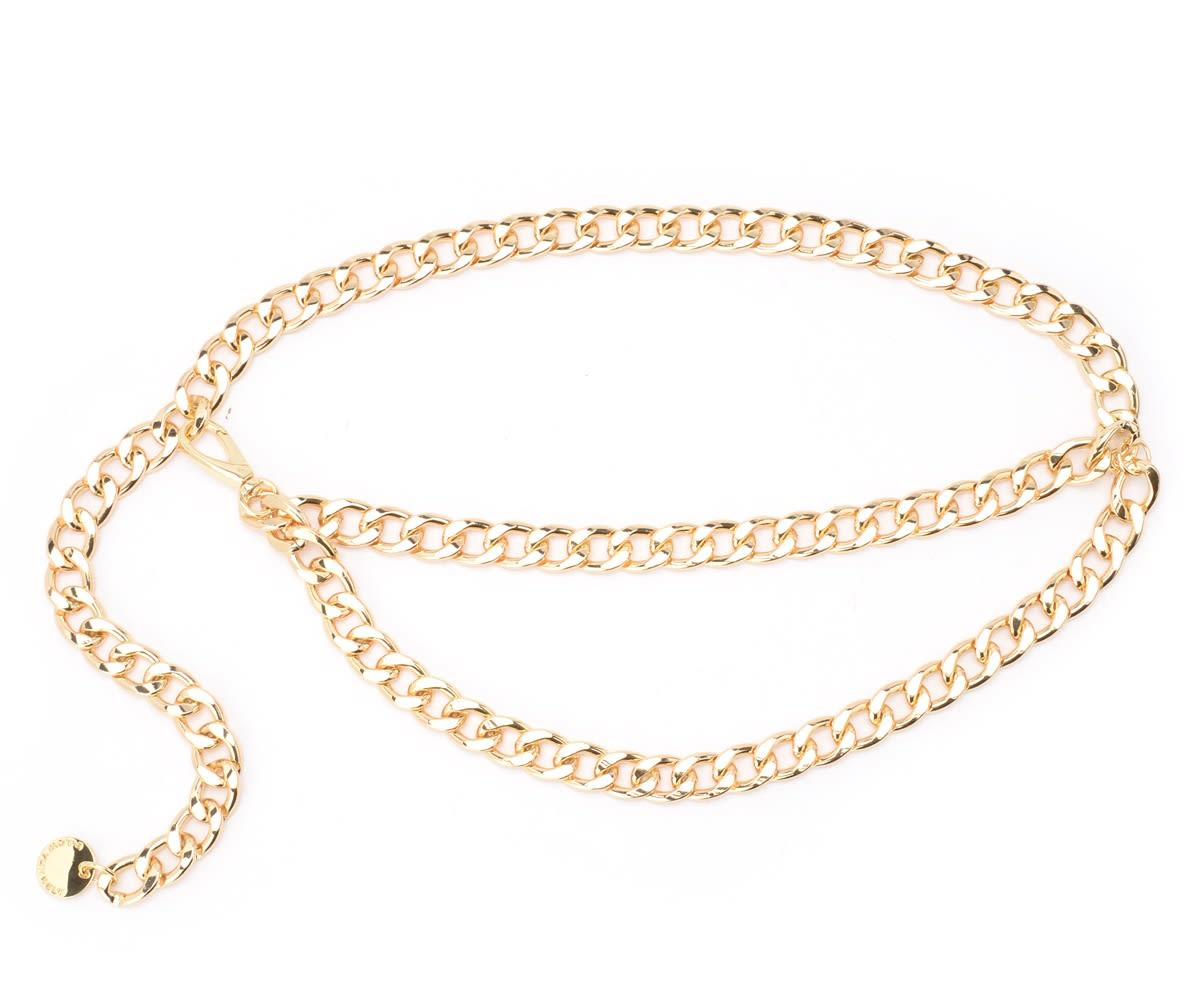 B-low The Belt Gissel Model Gold Color Chain Belt In Oro
