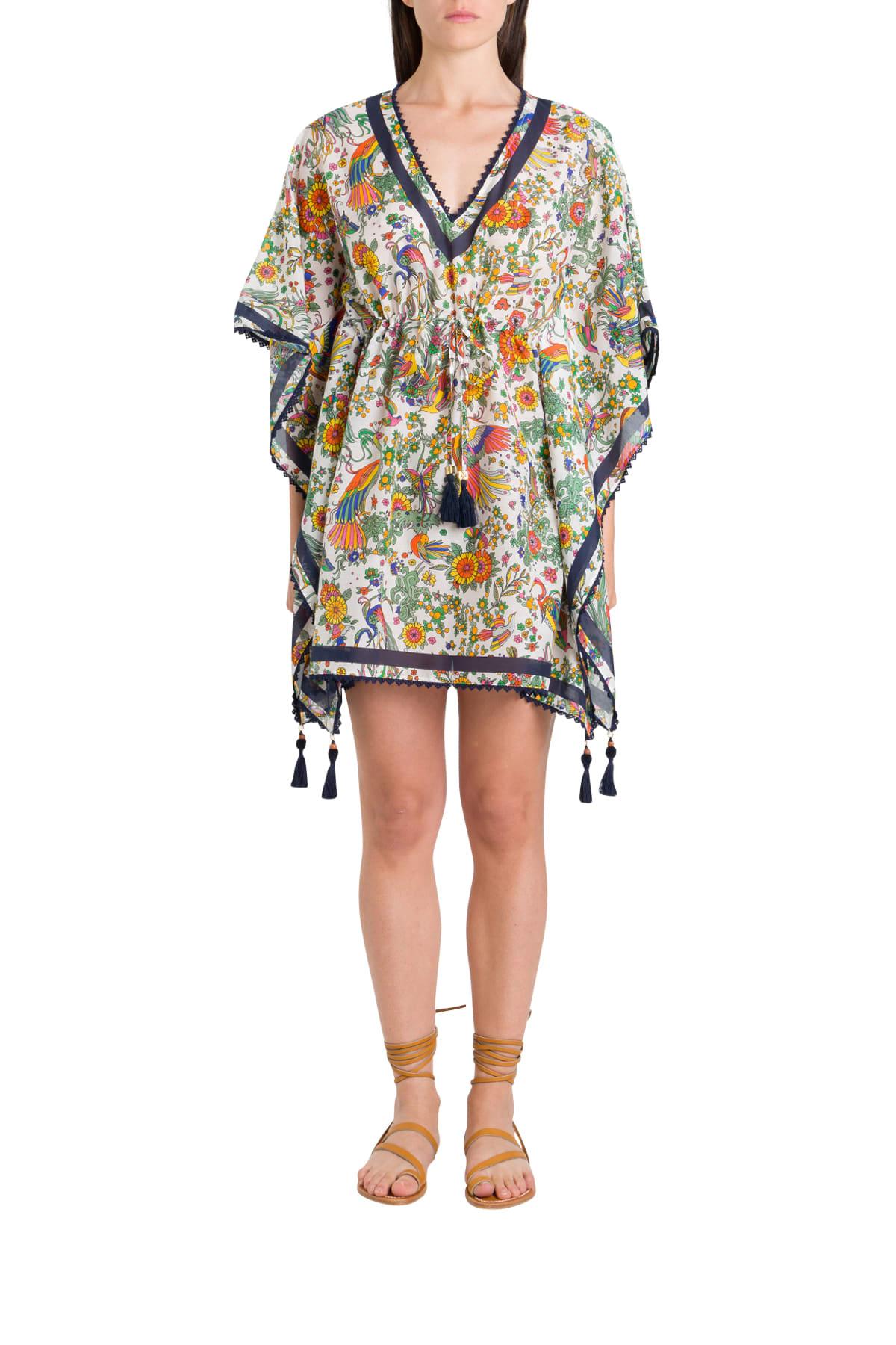 Buy Tory Burch Kaftan Short Dress online, shop Tory Burch with free shipping