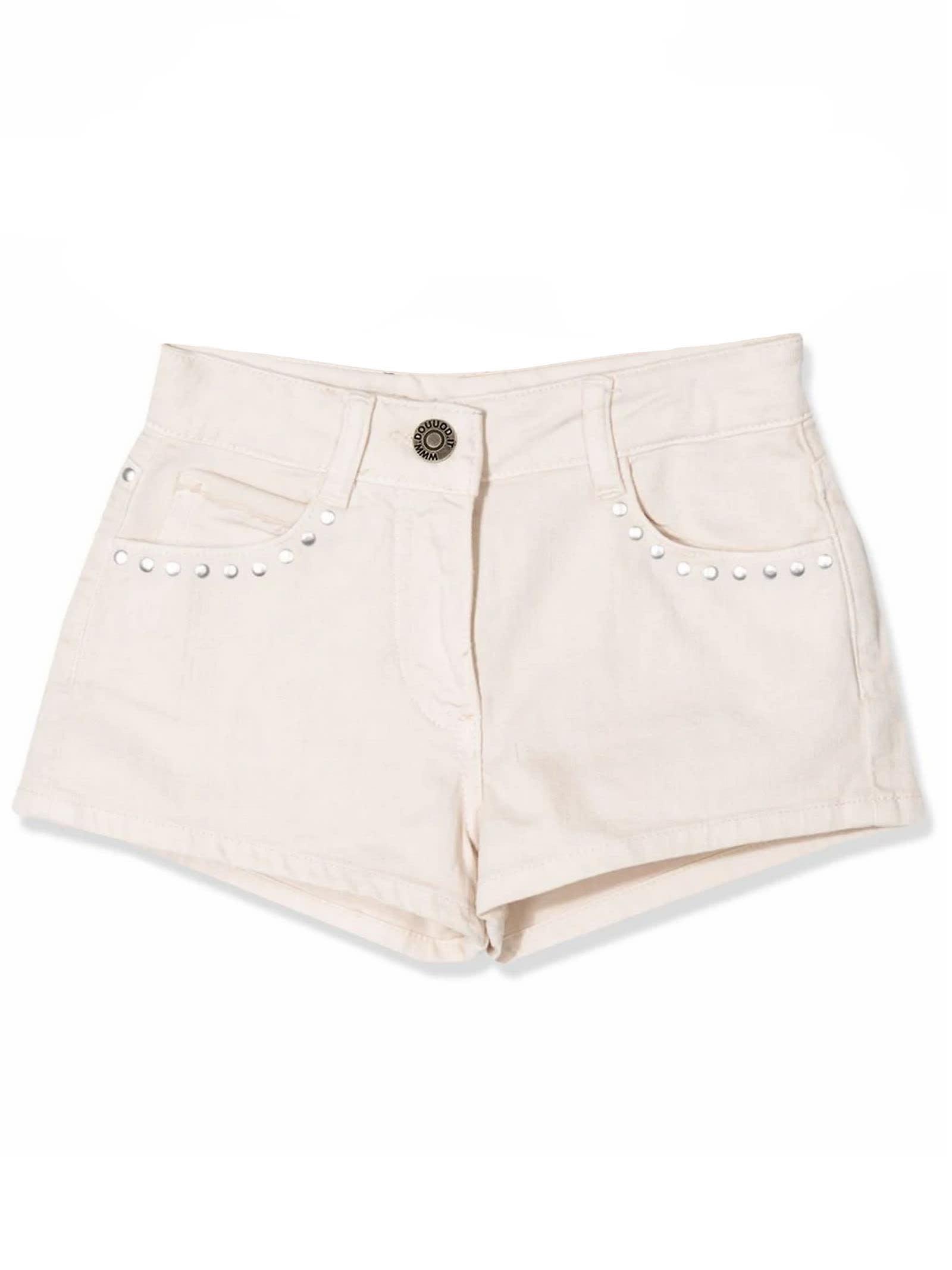 Neutral Cotton Shorts