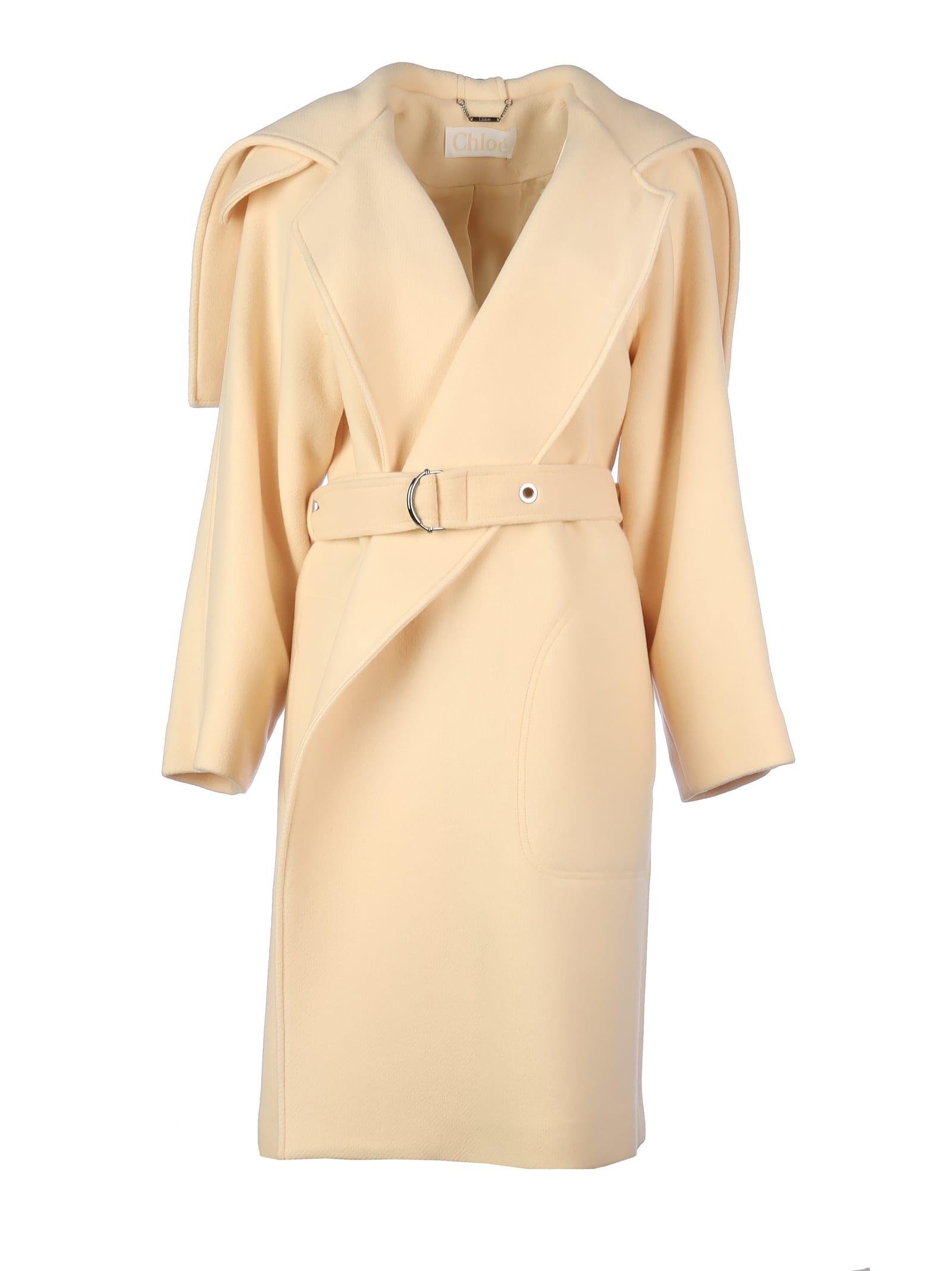 Chloé Wool Coat With Belt