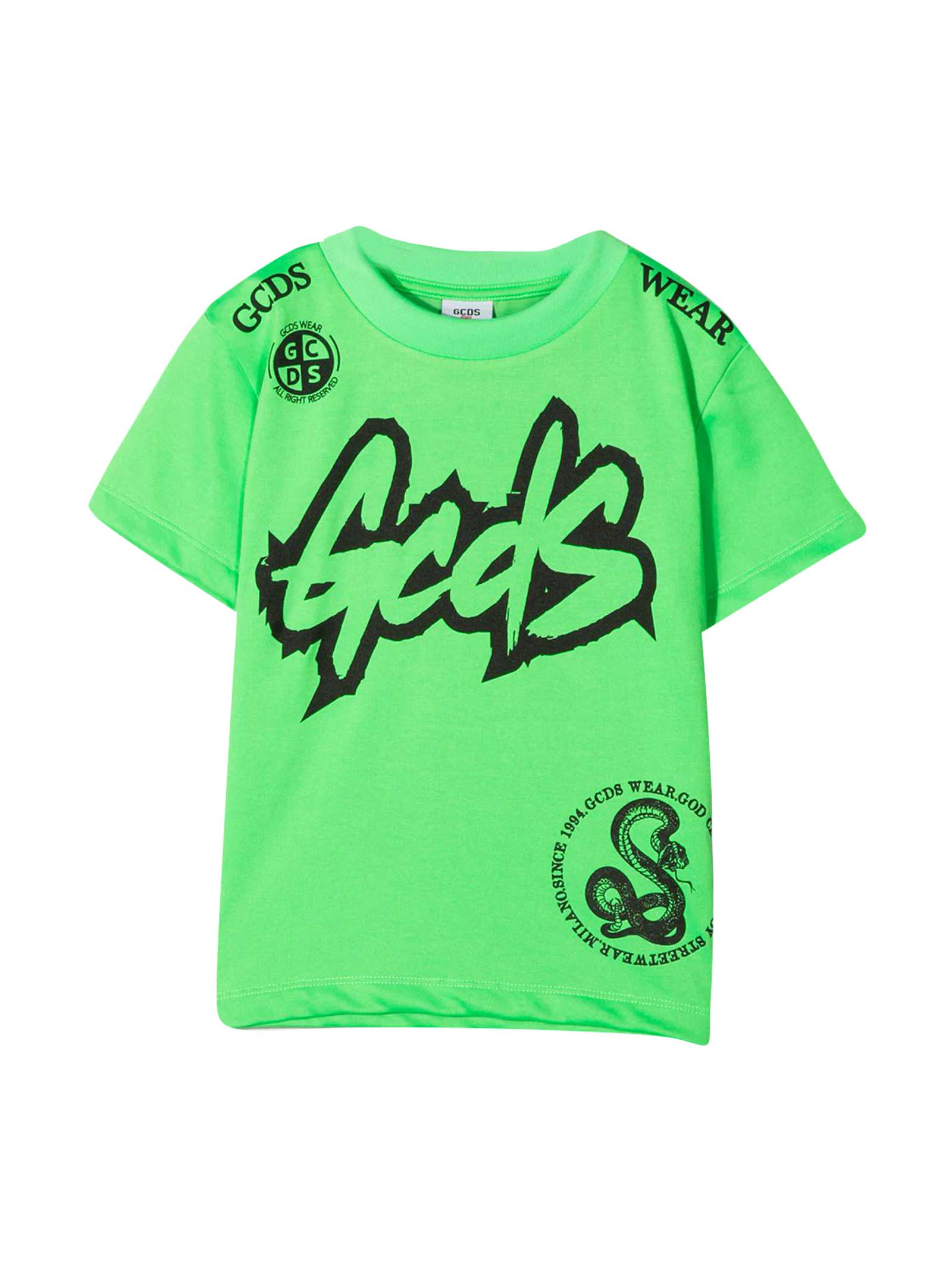 Gcds Mini GREEN TEEN T-SHIRT