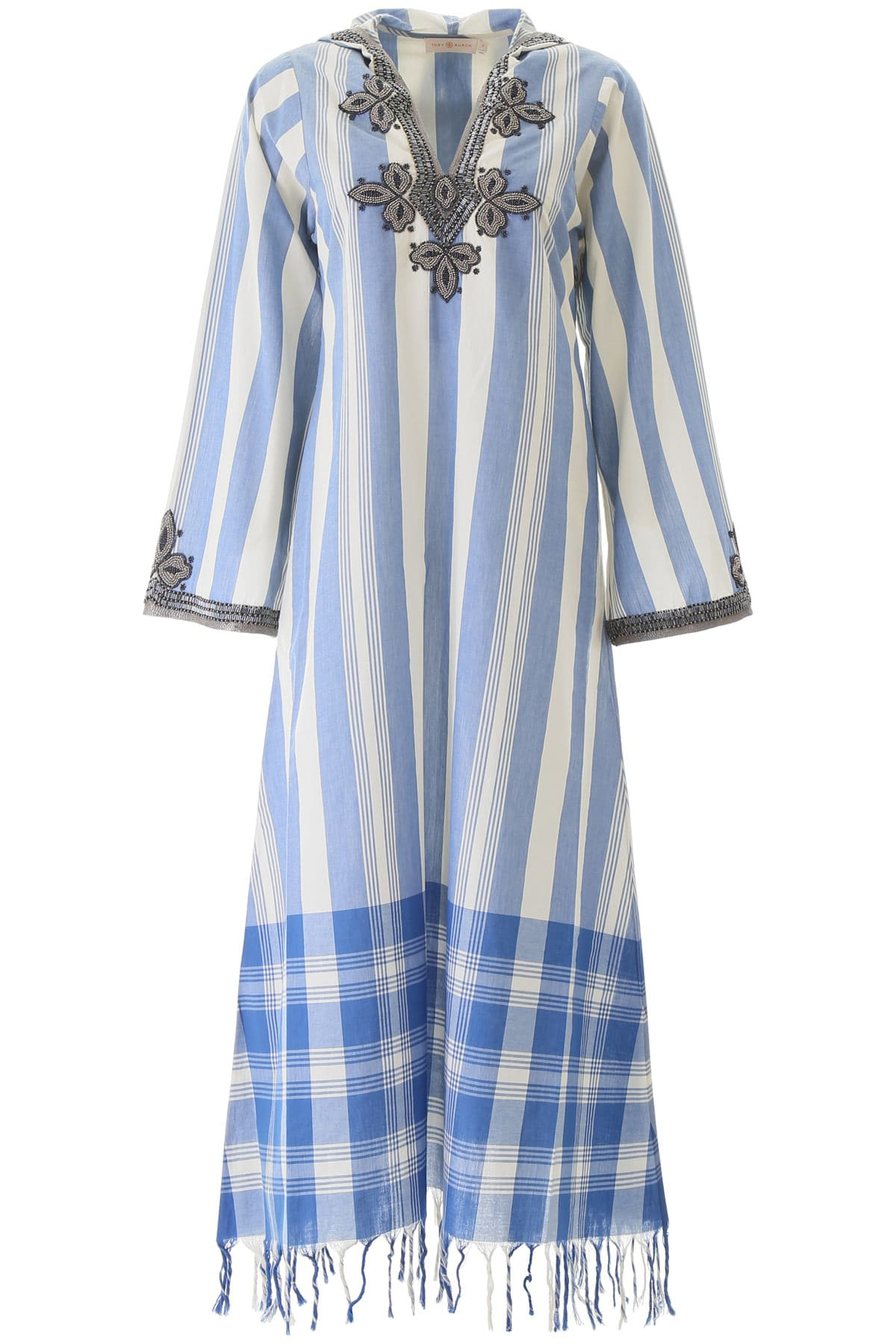 Buy Tory Burch Embroidered Kaftan Dress online, shop Tory Burch with free shipping
