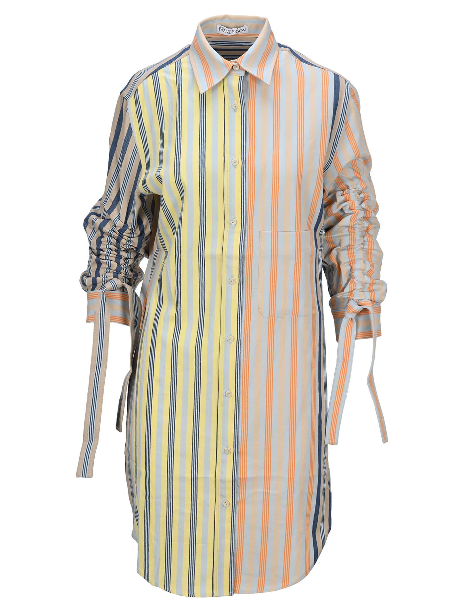 Buy Jw Anderson Striped Shirt-style Dress online, shop J.W. Anderson with free shipping