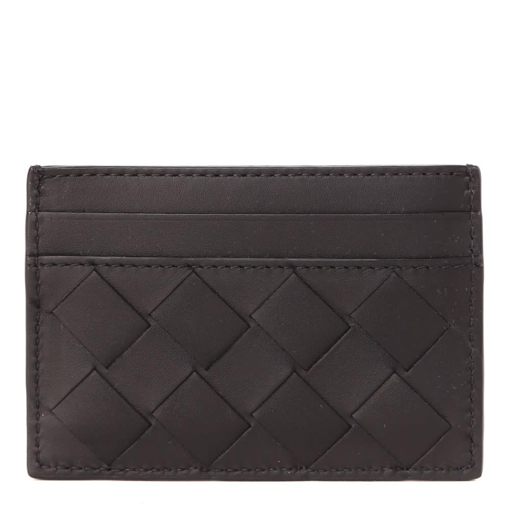 Bottega Veneta Black Woven Leather Cardholder