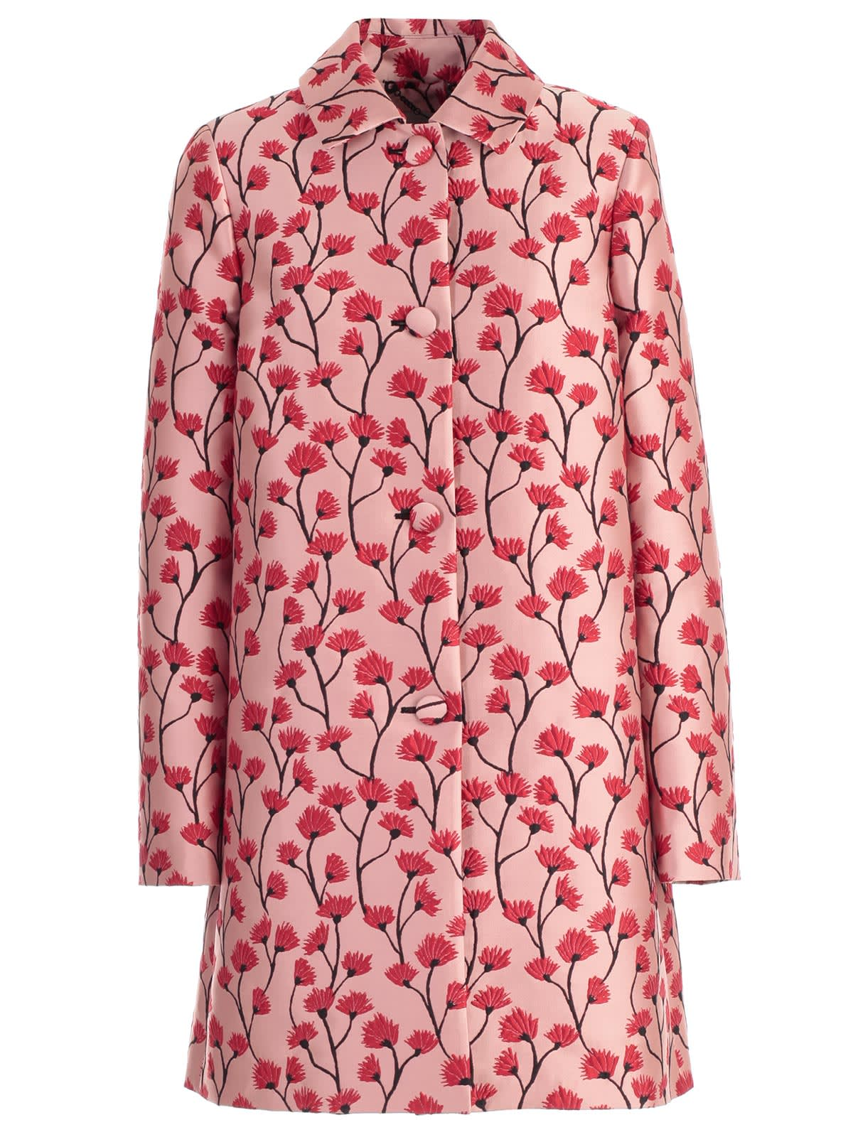 Be Blumarine Coat Flowers Printing W/stripe