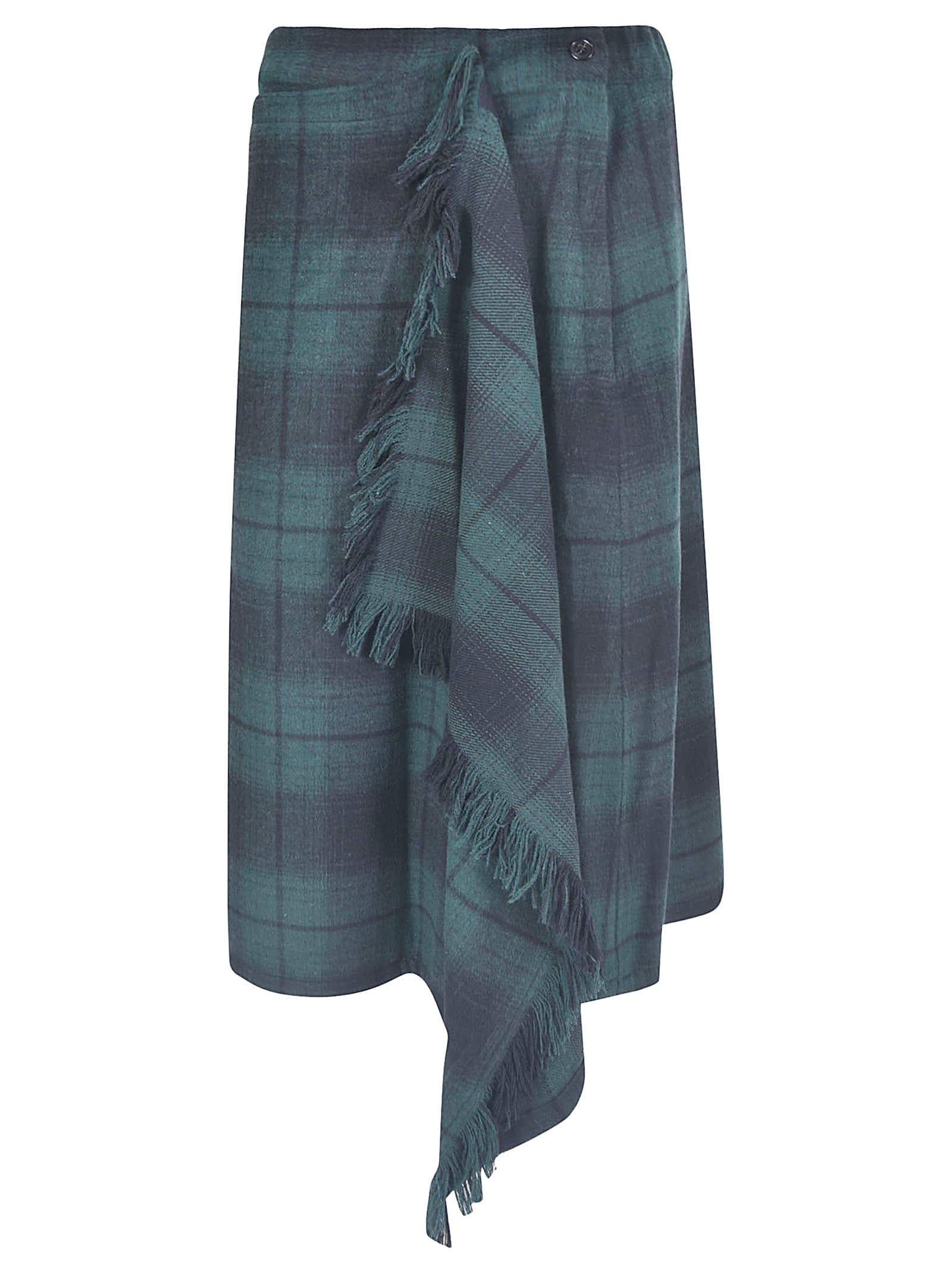 Zucca ASYMMETRIC CHECKED SKIRT