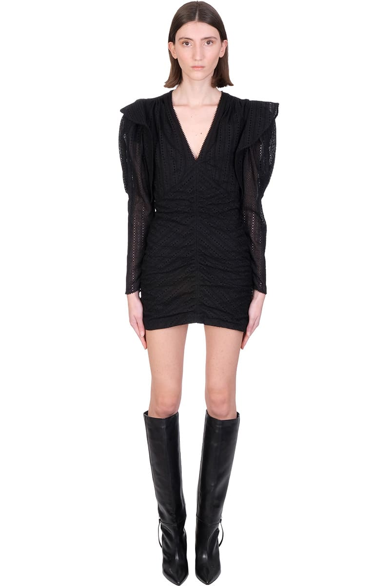Isabel Marant Dresses GETYA DRESS IN BLACK COTTON