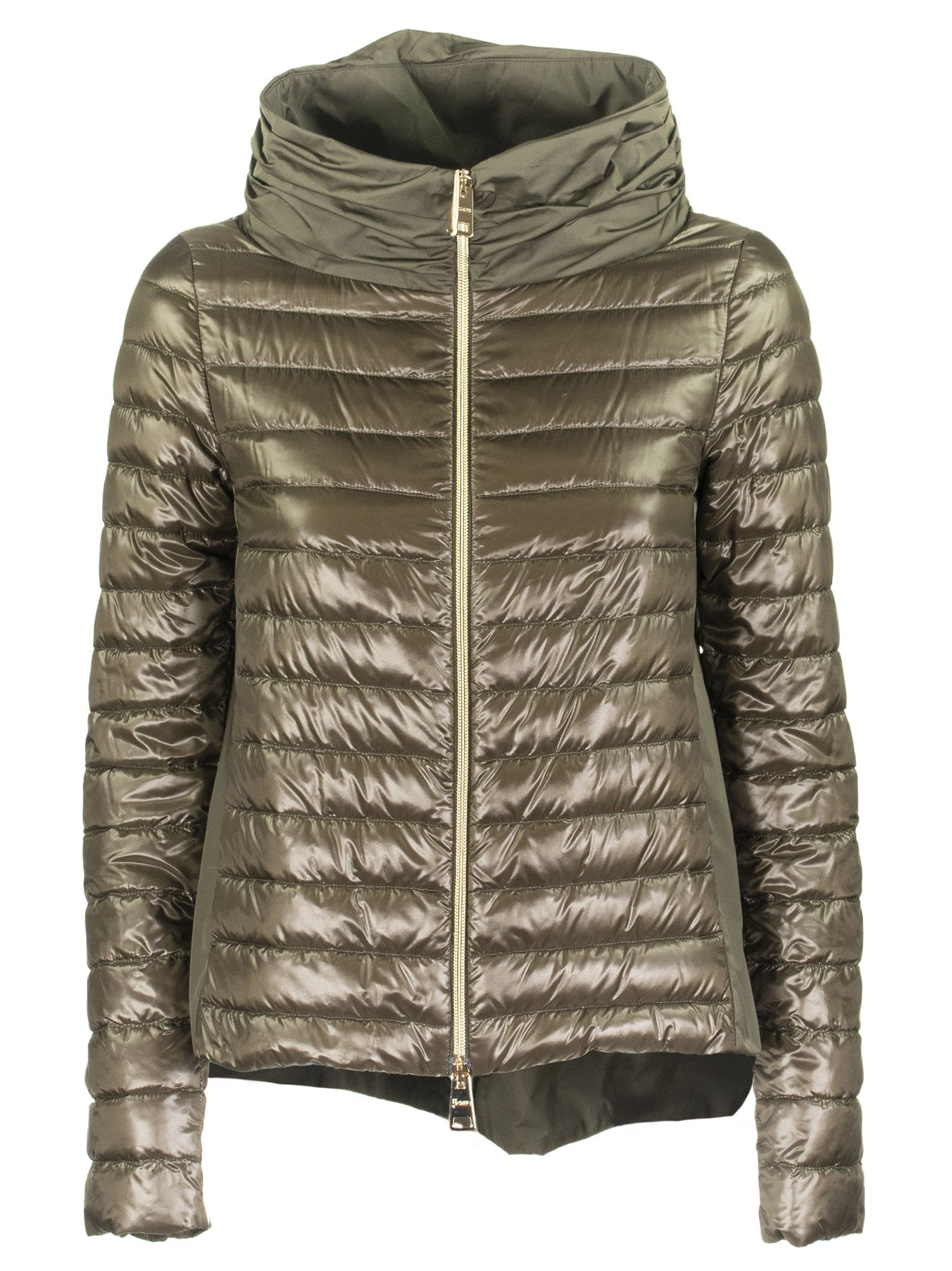 Herno Ladybug Down Jacket In Military Green