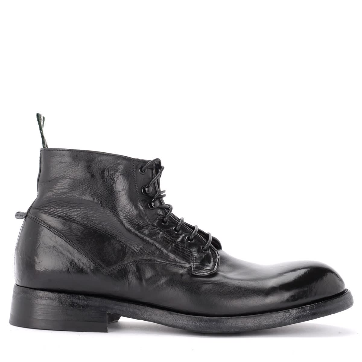 Ankle Boot In Black Washed Leather