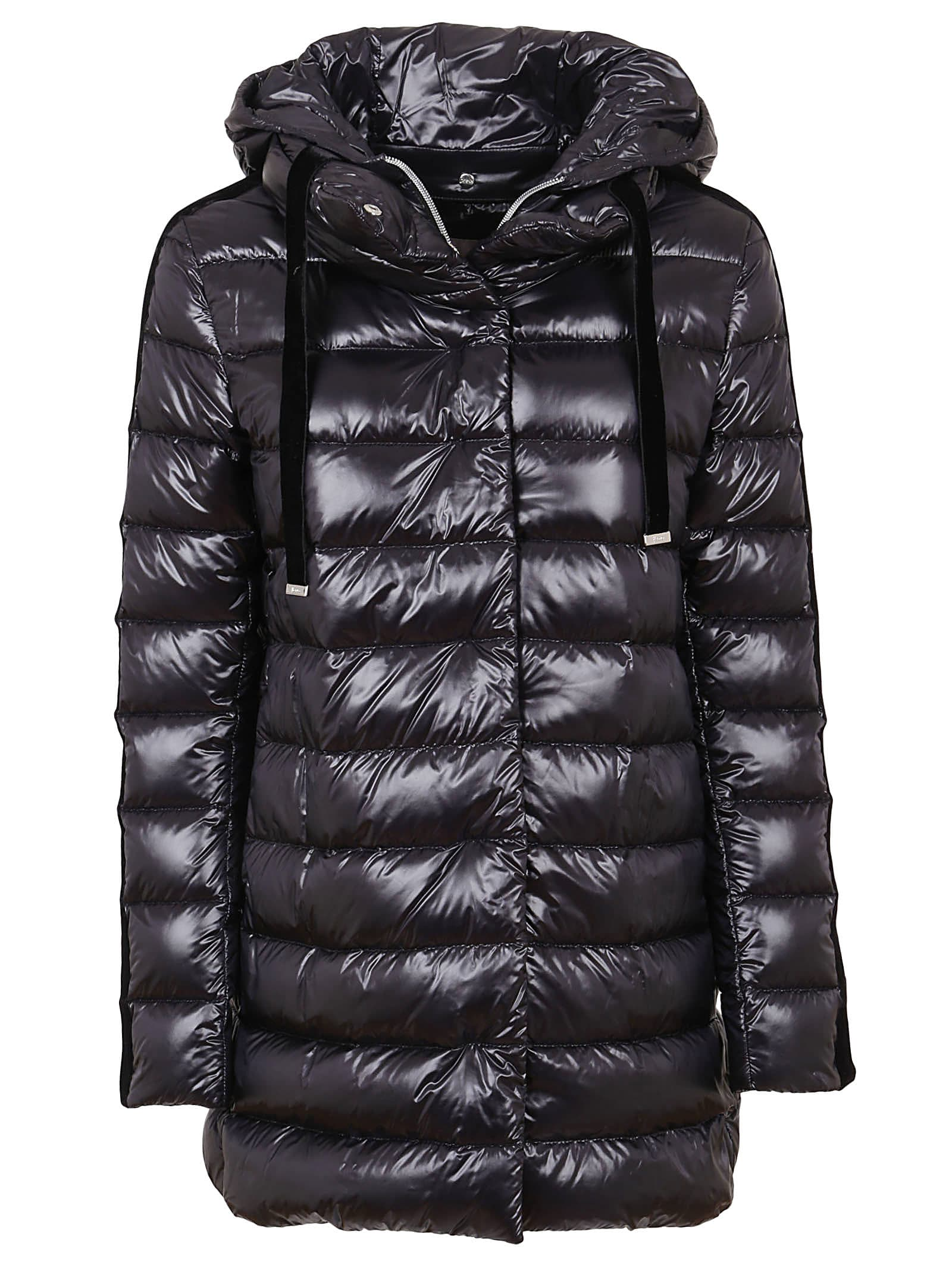 Black Technical Fabric Padded Jacket