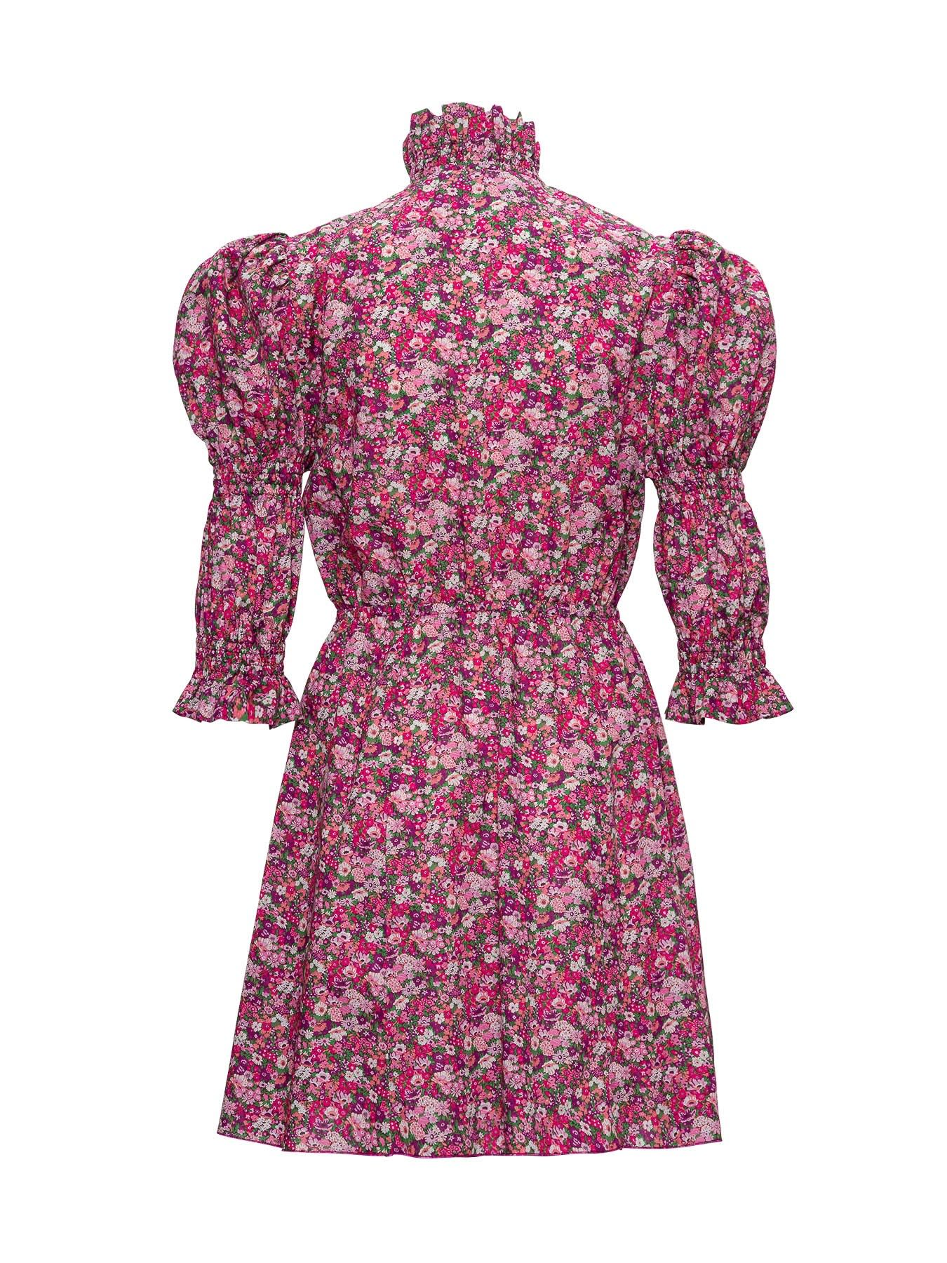 Philosophy di Lorenzo Serafini Floral Dress With Puffed Shoulders