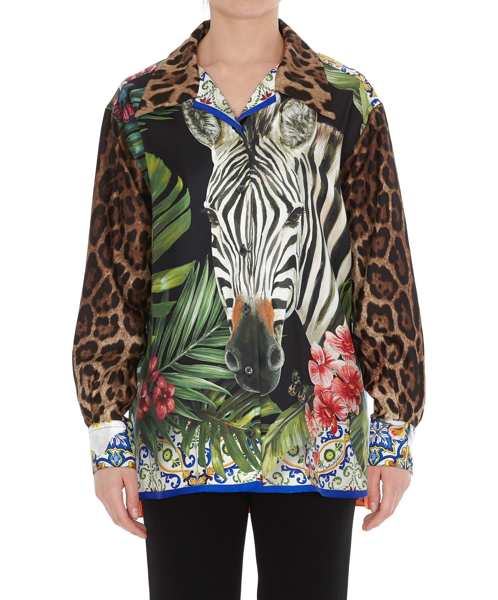 Dolce & Gabbana Tops LEOPARD AND ZEBRA PRINT SHIRT