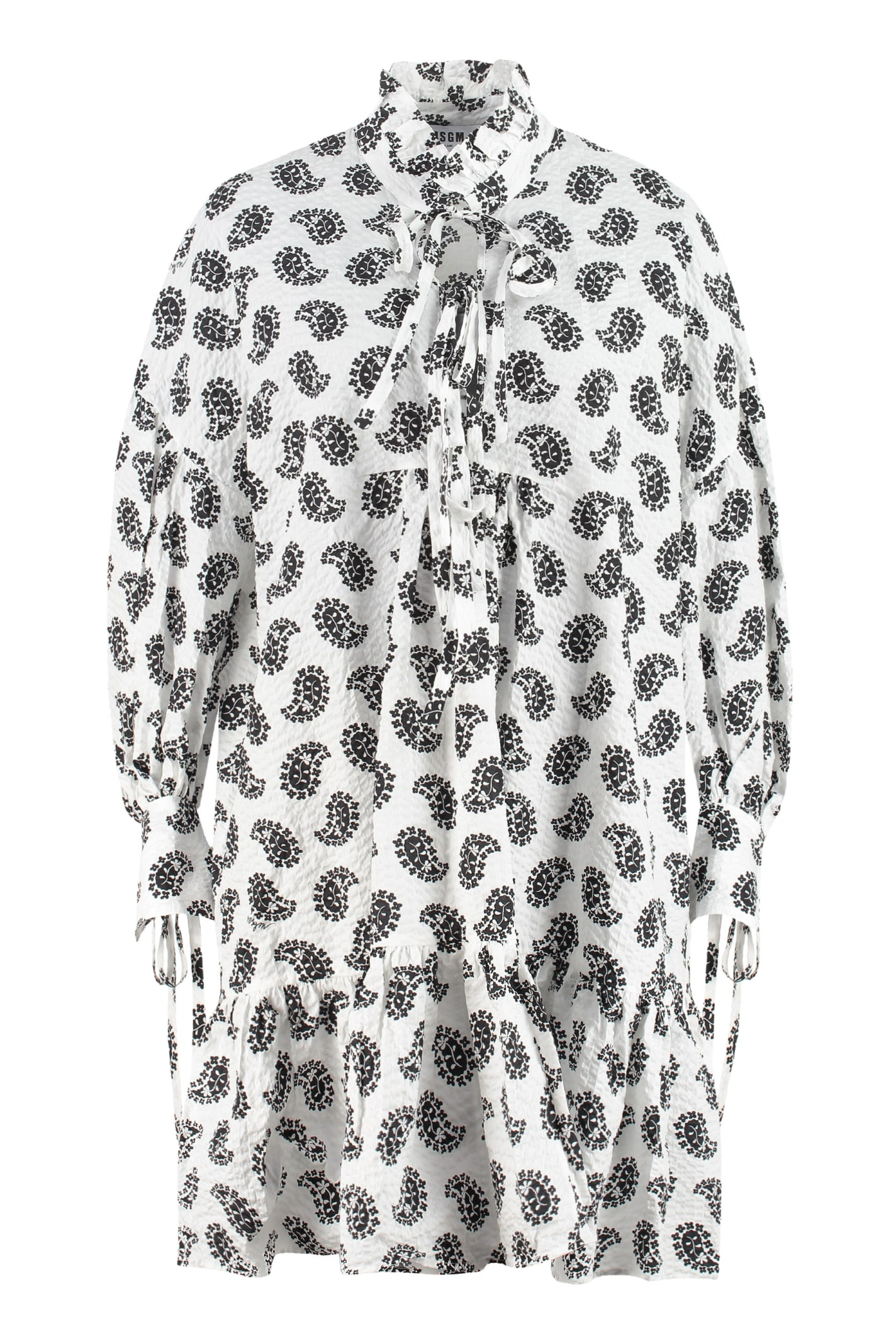 Buy MSGM Printed Cotton Dress online, shop MSGM with free shipping