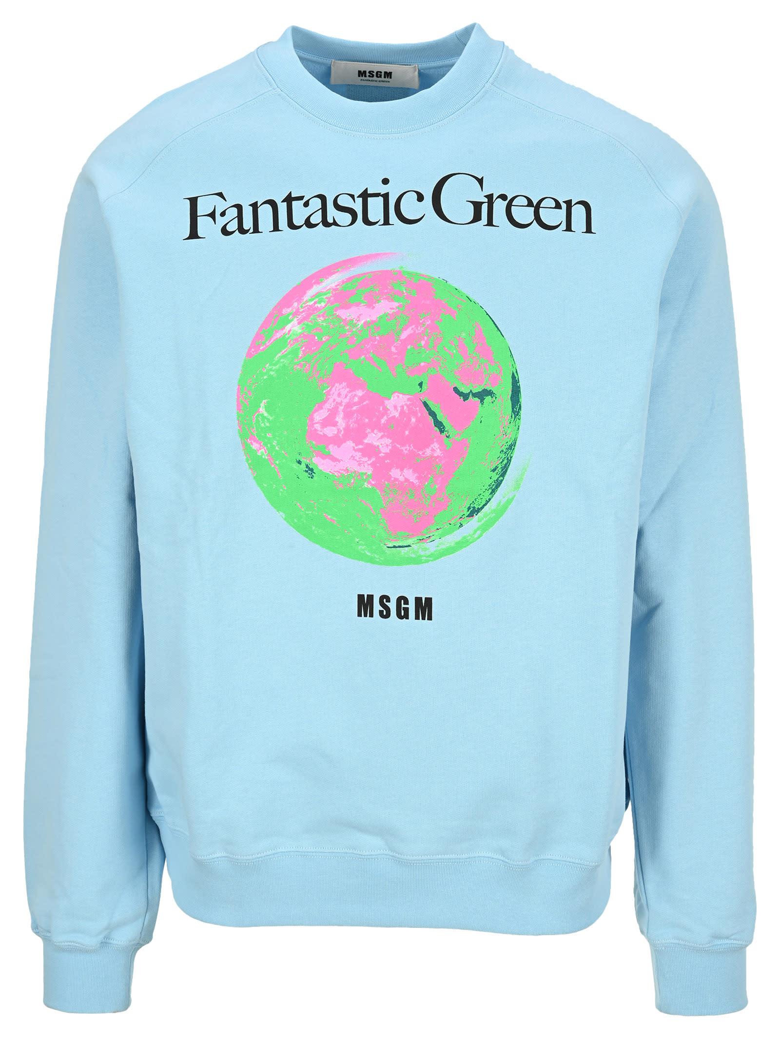 Msgm Sweatshirts MSGM FANTASTIC GREEN SWEATSHIRT