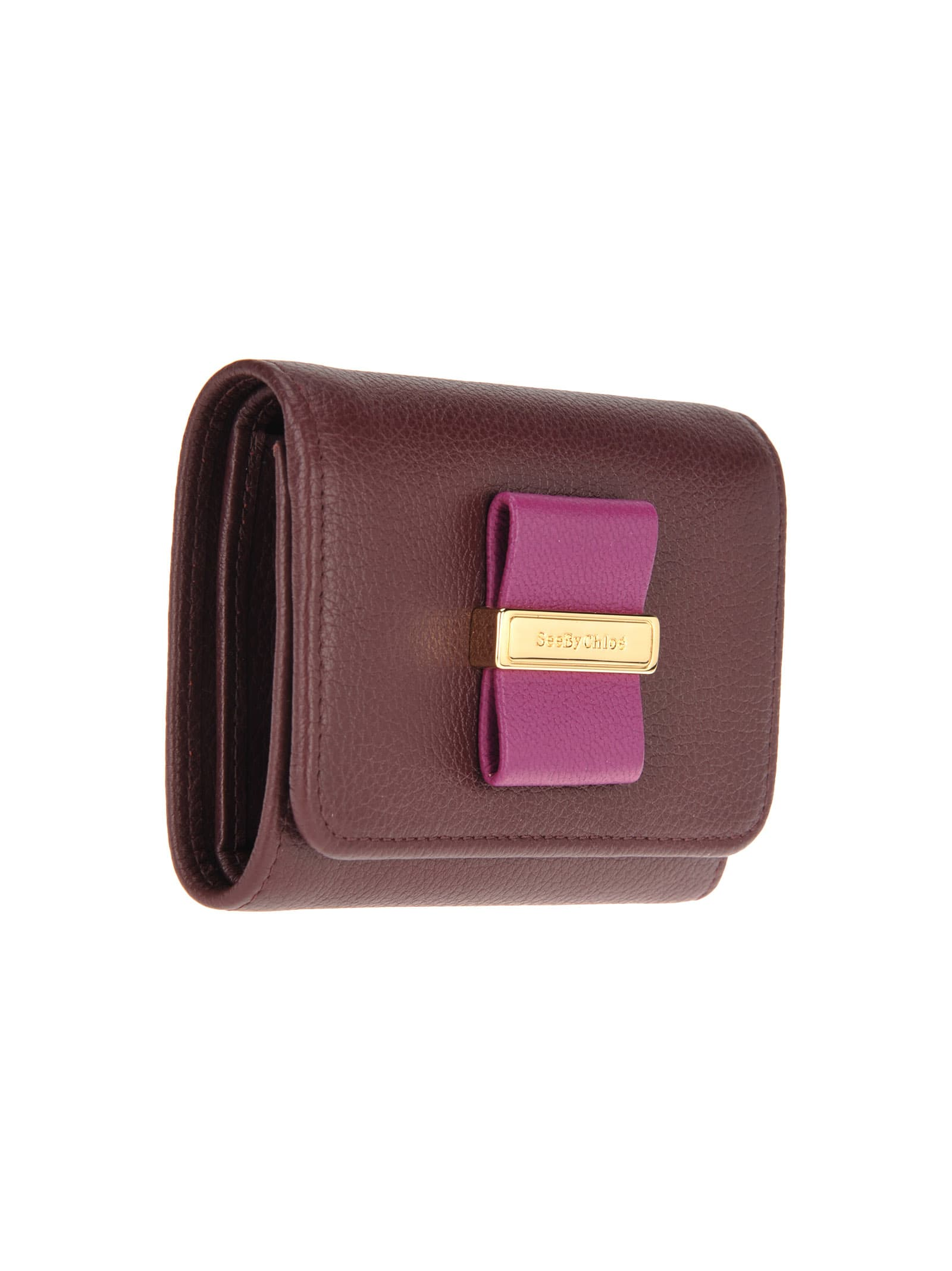 8b163412 See By Chloe' Logo Plaque Wallet