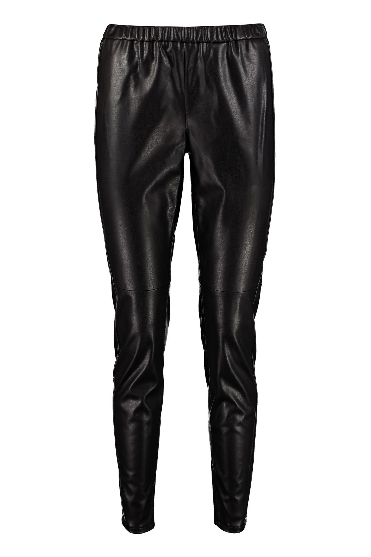 Michael Michael Kors Faux Leather Leggings In Black