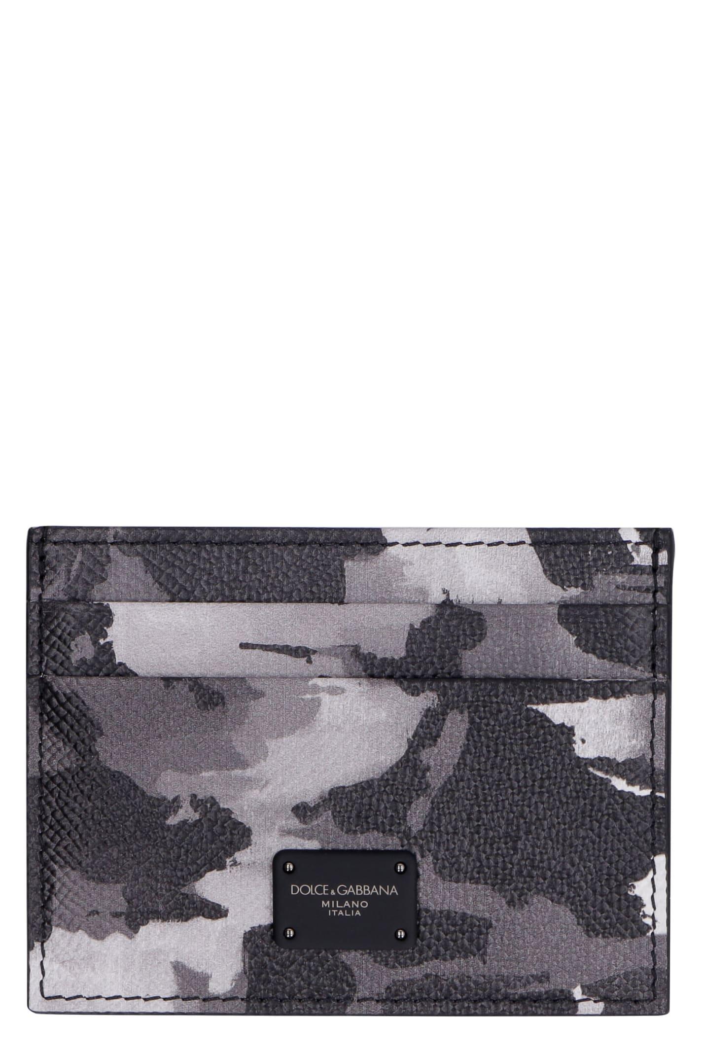 Dolce & Gabbana Printed Leather Card Holder