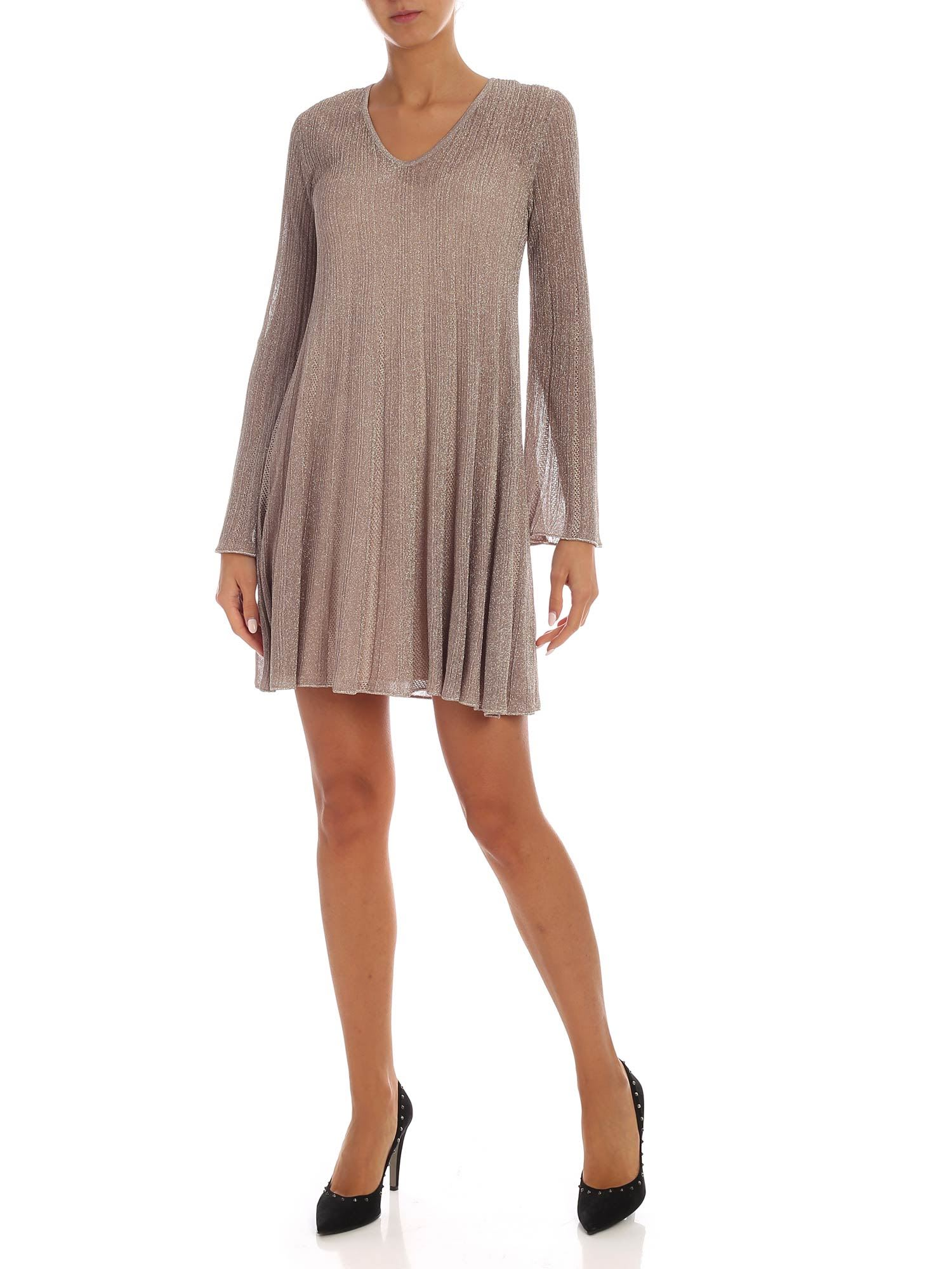 Buy M Missoni - Lamé Knitted Dress online, shop M Missoni with free shipping