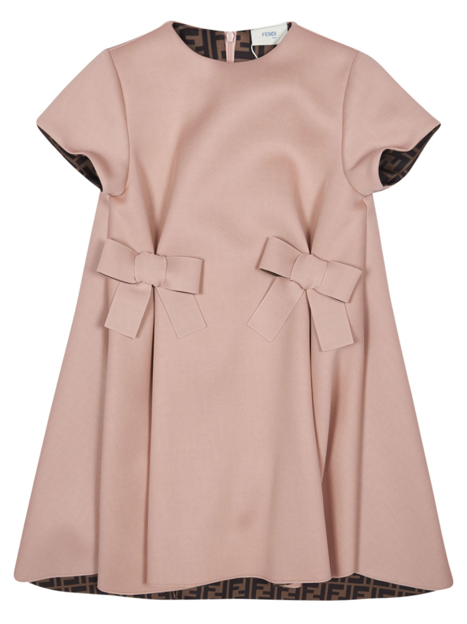 Buy Fendi Bow Front Detail Dress online, shop Fendi with free shipping